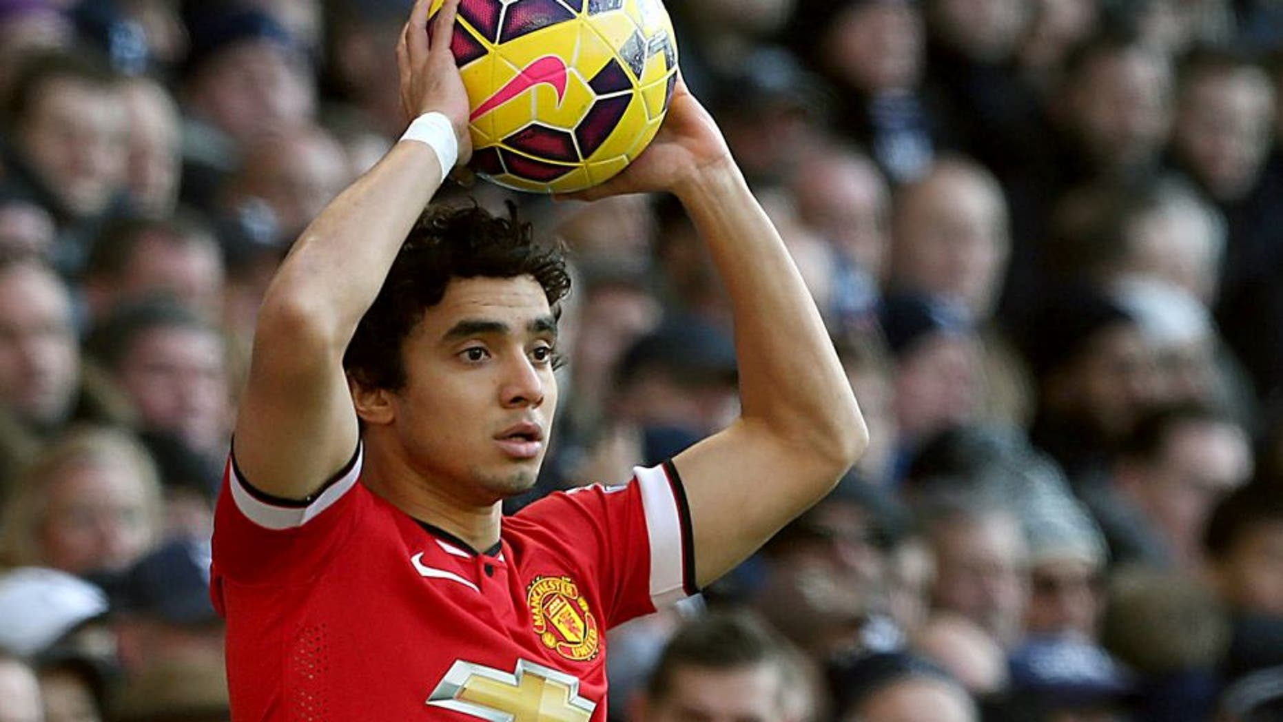 LONDON, ENGLAND - DECEMBER 28: Rafael da Silva of Manchester United in action during the Barclays Premier League match between Tottenham Hotspur and Manchester United at White Hart Lane on December 28, 2014 in London, England. (Photo by John Peters/Man Utd via Getty Images)