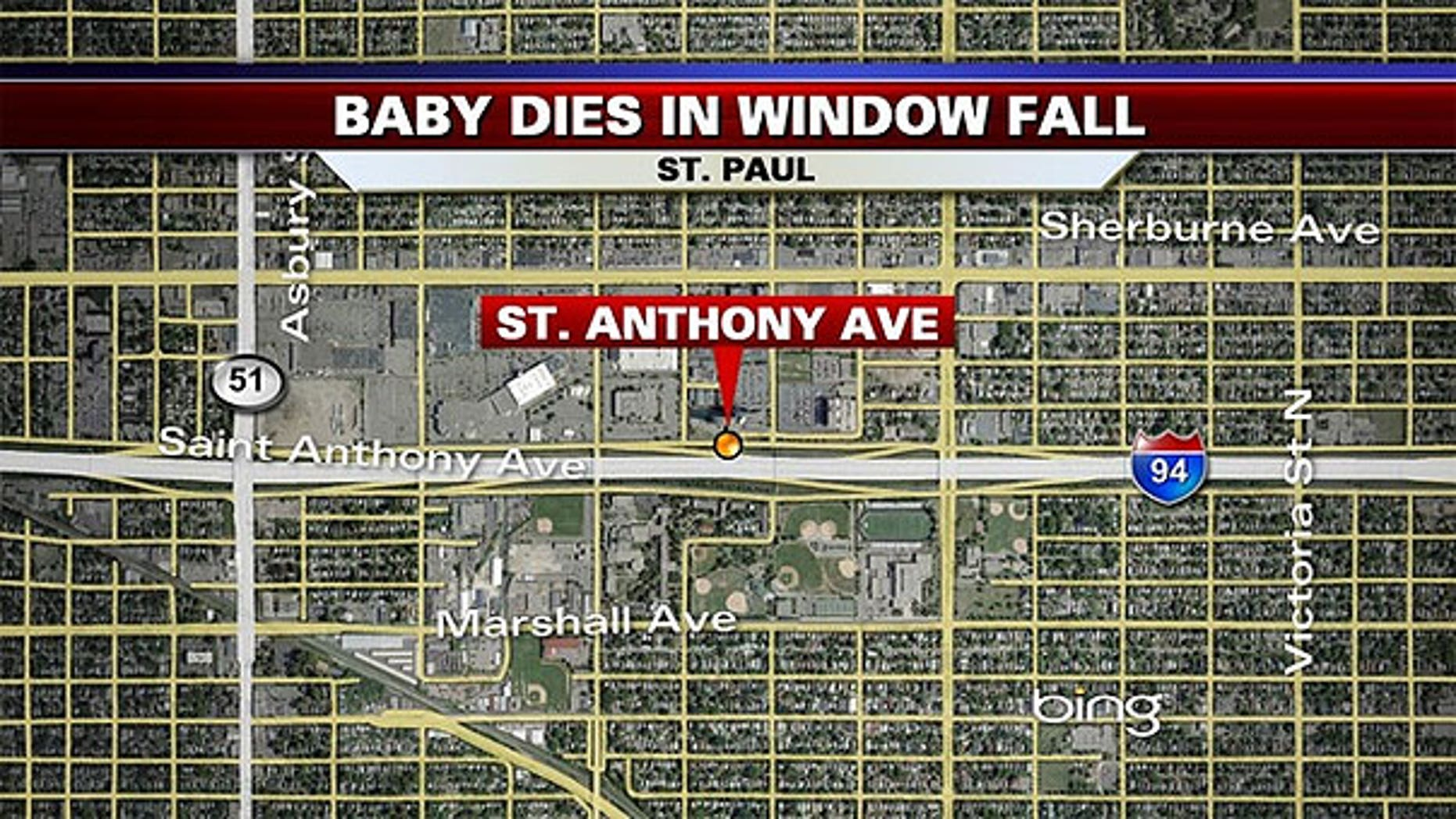 This image shows the 1200 block of St. Anthony Avenue where the accident occured.