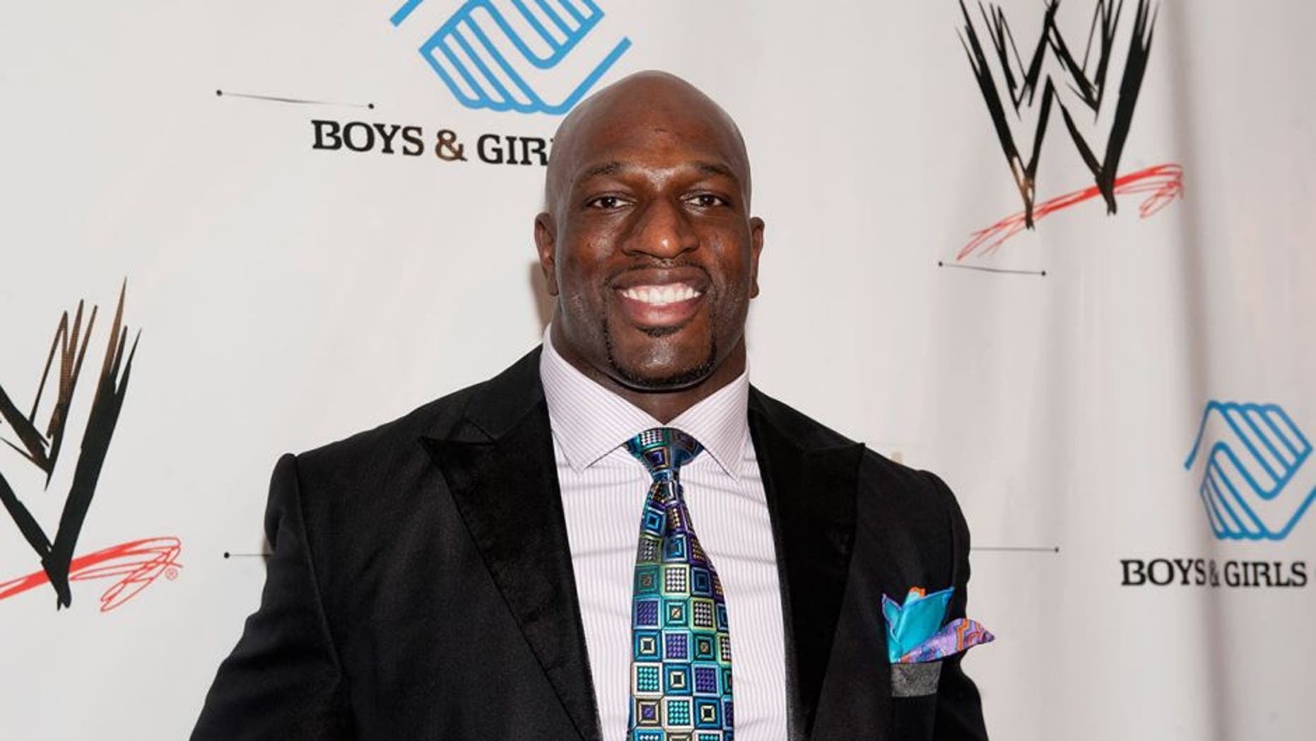 NEW ORLEANS, LA - APRIL 03: Titus O'Neil attends WWE's 2014 SuperStars For Kids at the New Orleans Museum of Art on April 3, 2014 in New Orleans City. (Photo by Erika Goldring/Getty Images)