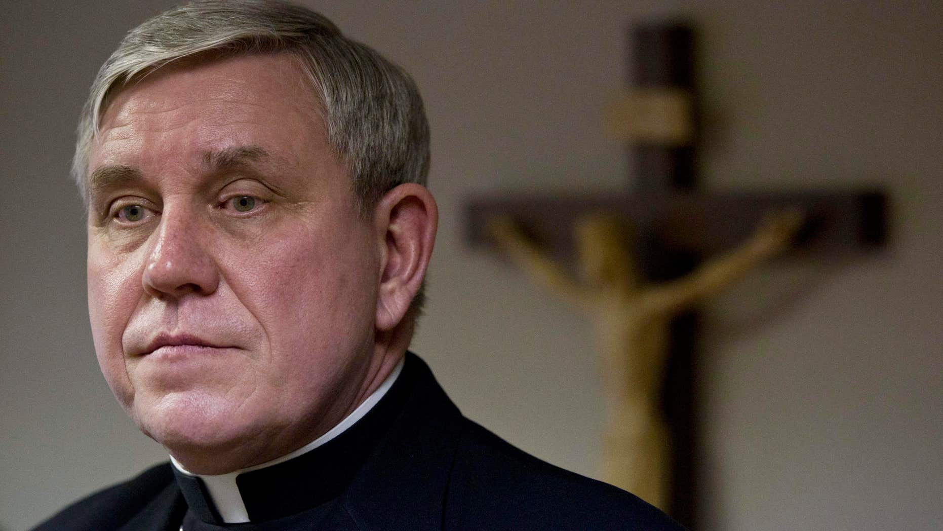 Jan. 4, 2011: Milwaukee Archbishop Jerome Listecki at a news conference in St. Francis, Wis.