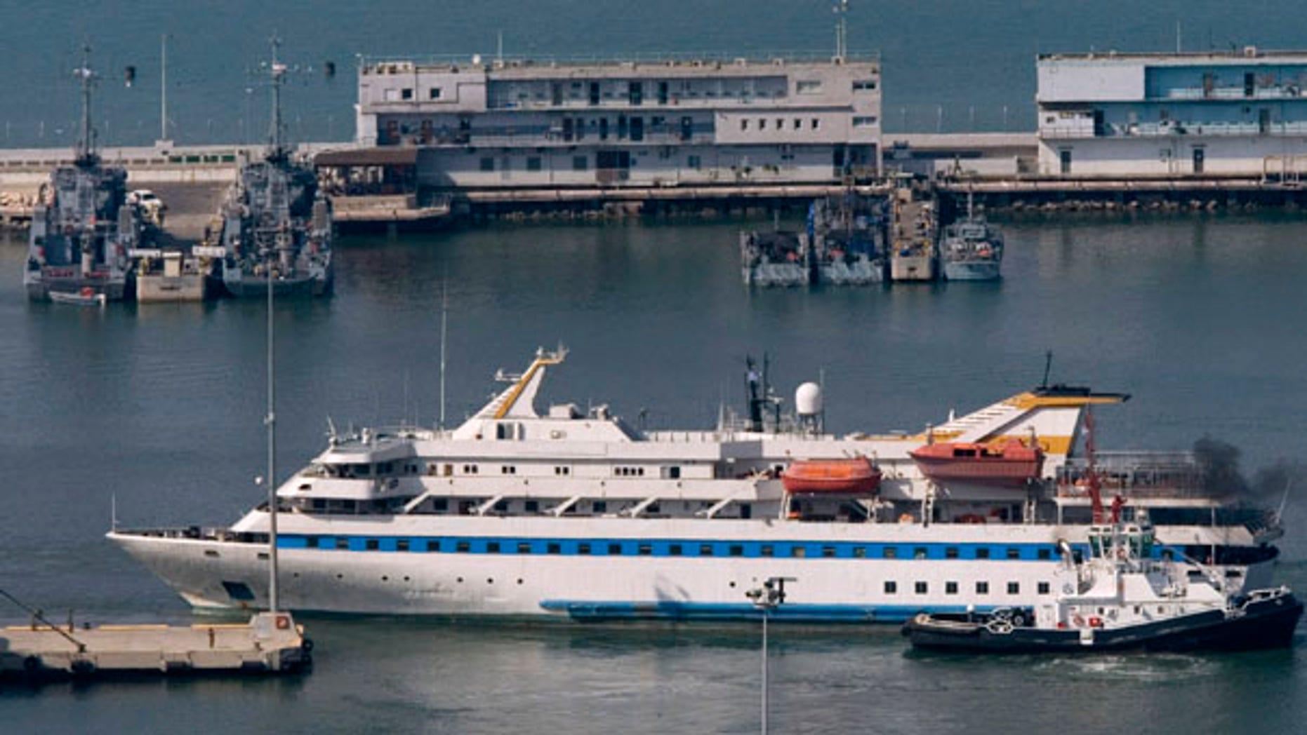 Aug. 5: The Mavi Marmara ship, part of a Gaza-bound flotilla raided by Israeli commandos in May, leaves the Haifa port on its way back to Turkey.