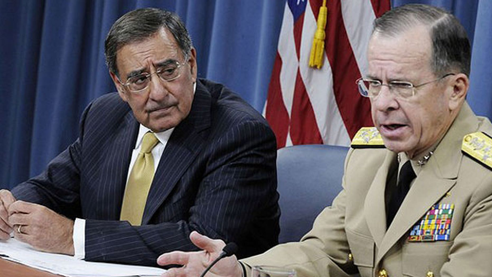 August 4: U.S. Defense Secretary Leon Panetta and Chairman of the Joint Chiefs of Staff U.S. Navy Admiral Michael Mullen hold their first joint news conference at the Pentagon in Washington, D.C.