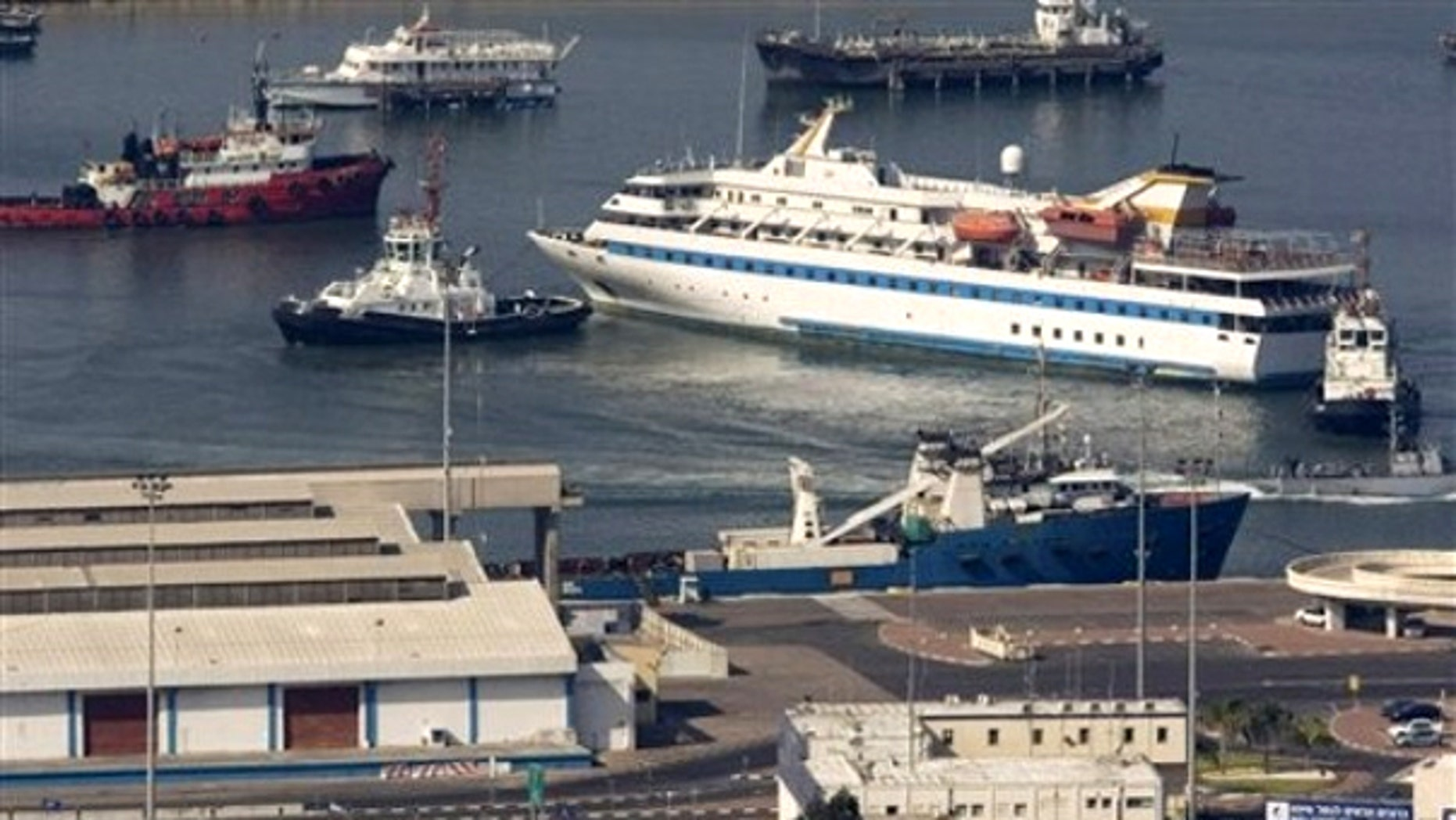 Aug. 5: he Mavi Marmara ship, aboard which Israel's deadly raid on a Gaza-bound flotilla took place on May 31, 2010, leaves the Haifa port, northern Israel, on its way back home to Turkey.
