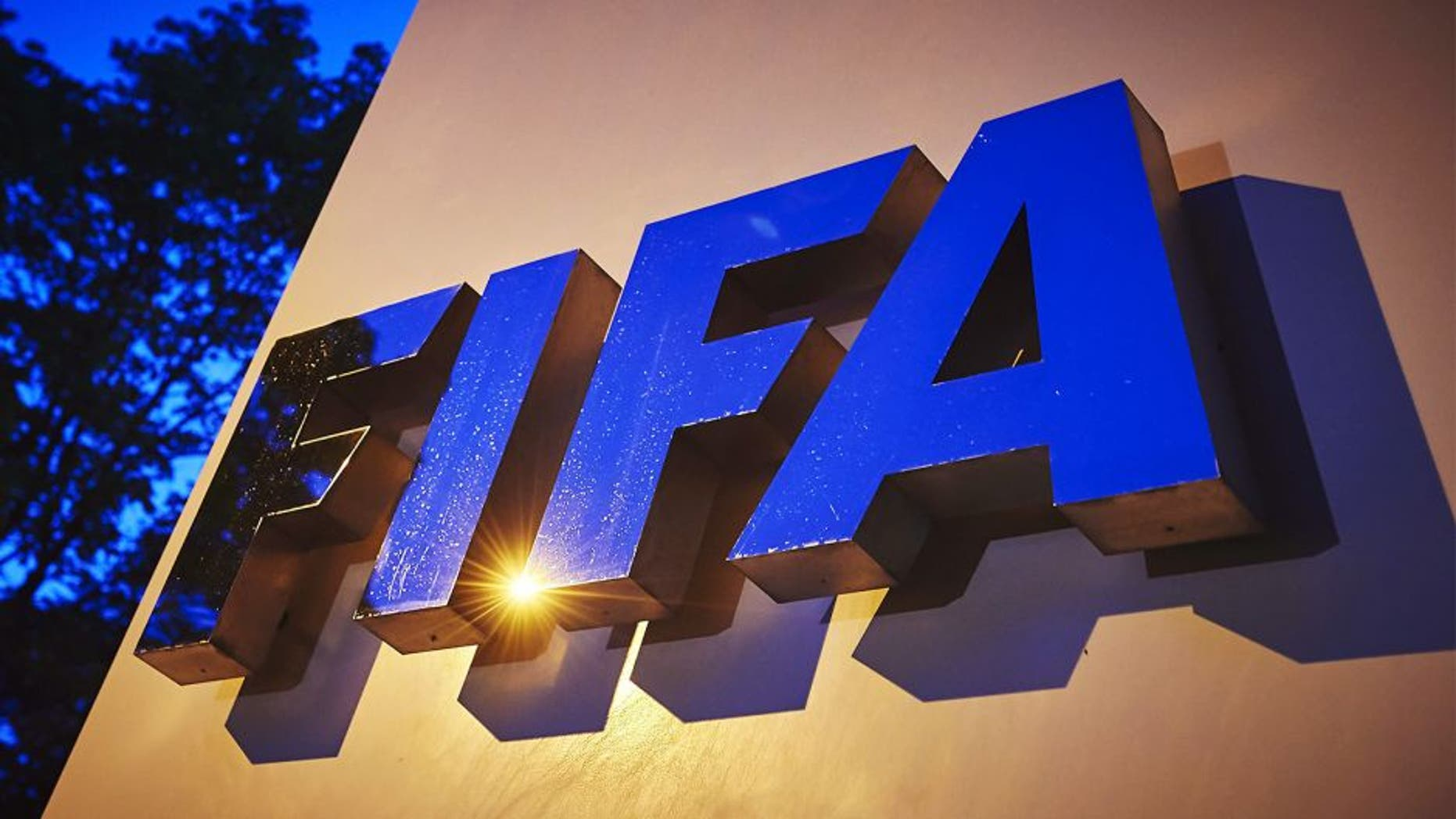 The FIFA logo is pictured at the FIFA headquarters on June 2, 2015 in Zurich. Blatter on June 2, 2015 resigned as president of FIFA as a mounting corruption scandal engulfed world football's governing body. The 79-year-old Swiss official, FIFA president for 17 years and only reelected on May 29, said a special congress would be called as soon as possible to elect a successor. AFP PHOTO / MICHAEL BUHOLZER (Photo credit should read MICHAEL BUHOLZER/AFP/Getty Images)