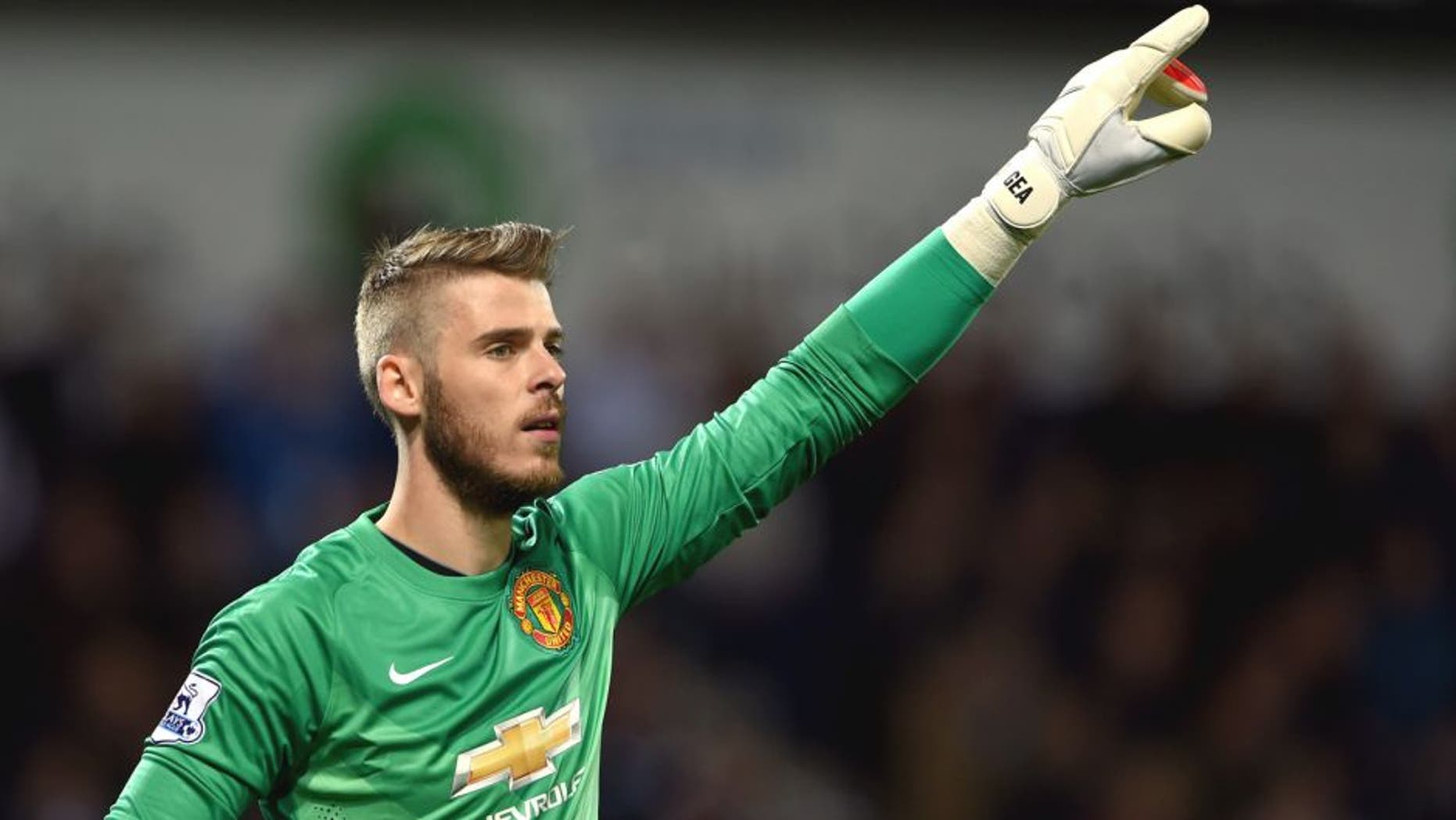 WEST BROMWICH, ENGLAND - OCTOBER 20: David De Gea of Manchester United in action during the Barclays Premier League match between West Bromwich Albion and Manchester United at The Hawthorns on October 20, 2014 in West Bromwich, England. (Photo by Michael Regan/Getty Images)