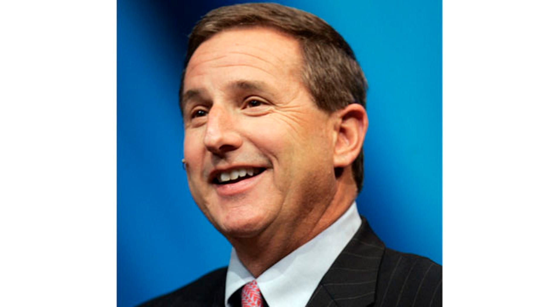 In this , Nov. 12, 2007, file photo, Hewlett Packard Company CEO Mark Hurd speaks during a conference in San Francisco.