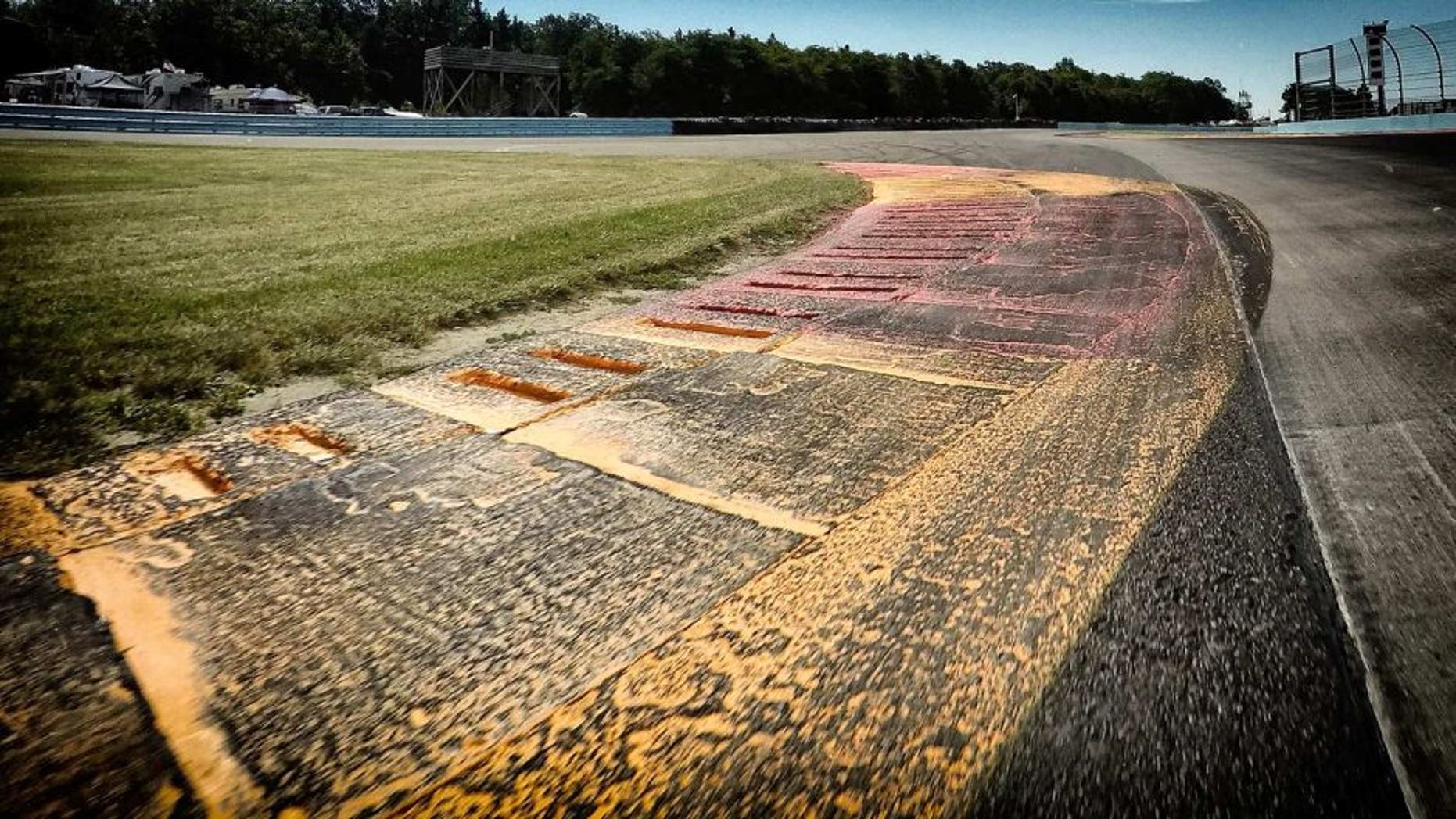 WATKINS GLEN, NY - AUGUST 08: (EDITOR'S NOTE: Image was processed using digital filters.) A general view of the track prior to qualifying for the NASCAR Sprint Cup Series Cheez-It 355 at Watkins Glen International on August 8, 2015 in Watkins Glen, New York. (Photo by Chris Graythen/Getty Images)