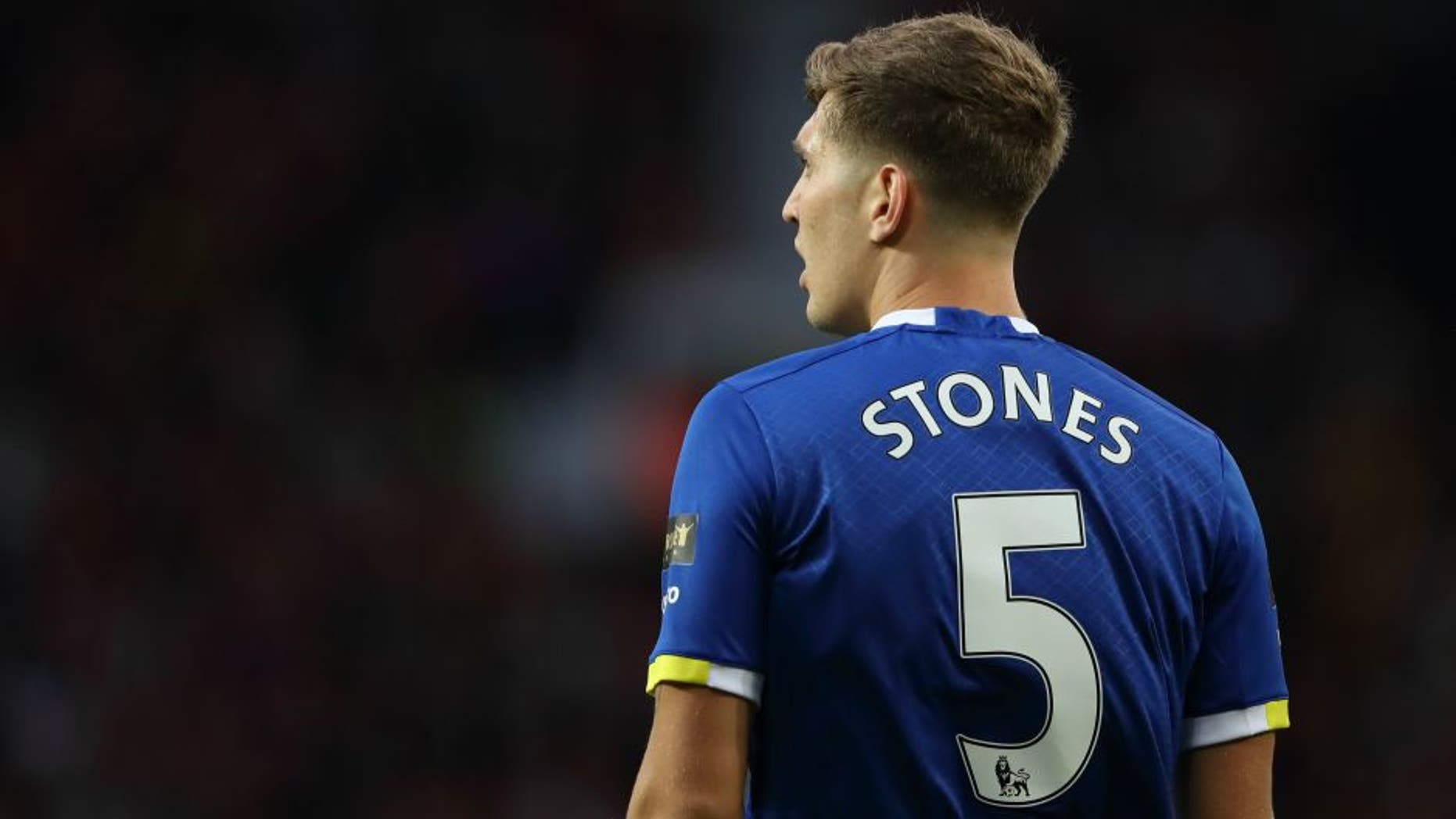 MANCHESTER, ENGLAND - AUGUST 03: John Stones of Everton during the Wayne Rooney Testimonial match between Manchester United and Everton at Old Trafford on August 3, 2016 in Manchester, England. (Photo by Matthew Ashton - AMA/Getty Images)