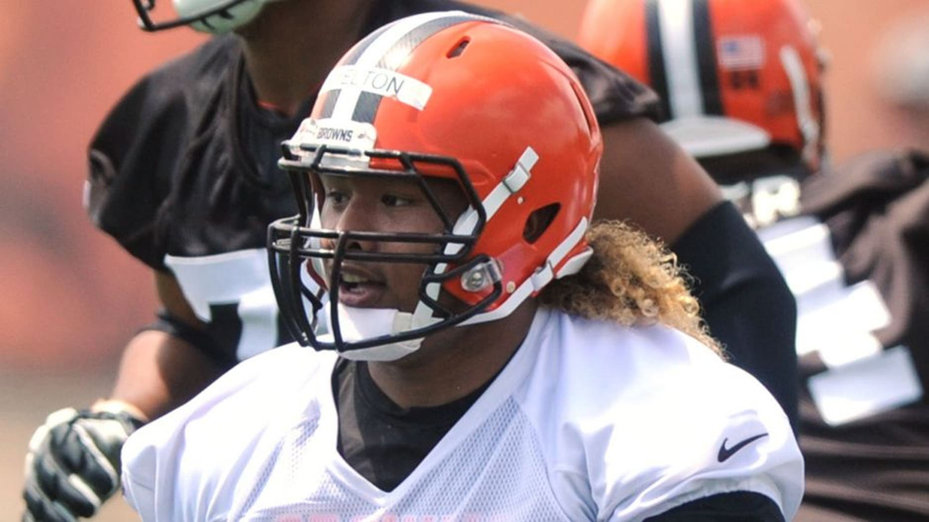 Jun 16, 2015; Berea, OH, USA; Cleveland Browns defensive lineman Danny Shelton (71) during minicamp at the Cleveland Browns practice facility. Mandatory Credit: Ken Blaze-USA TODAY Sports