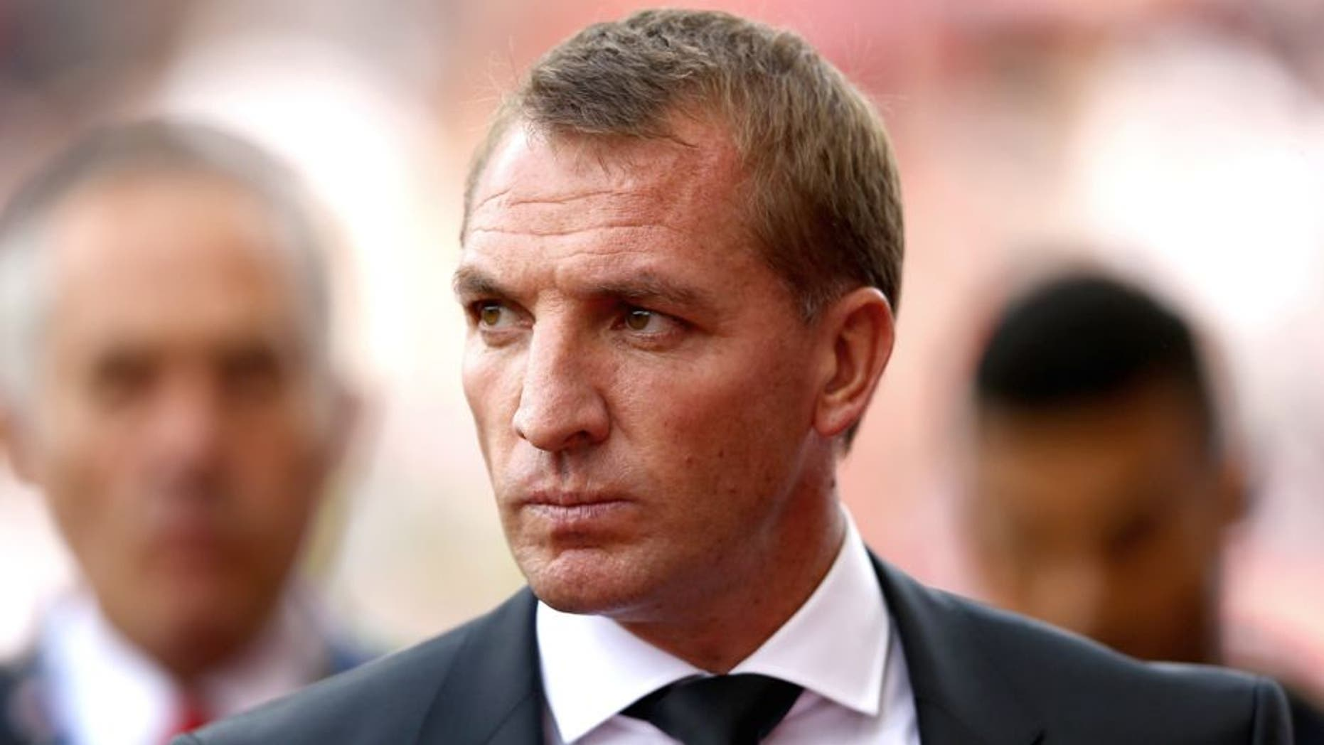 STOKE ON TRENT, ENGLAND - AUGUST 09: Liverpool manager Brendan Rodgers during the Barclays Premier League match between Stoke City and Liverpool at Britannia Stadium on August 9, 2015 in Stoke on Trent, England. (Photo by Clive Brunskill/Getty Images)