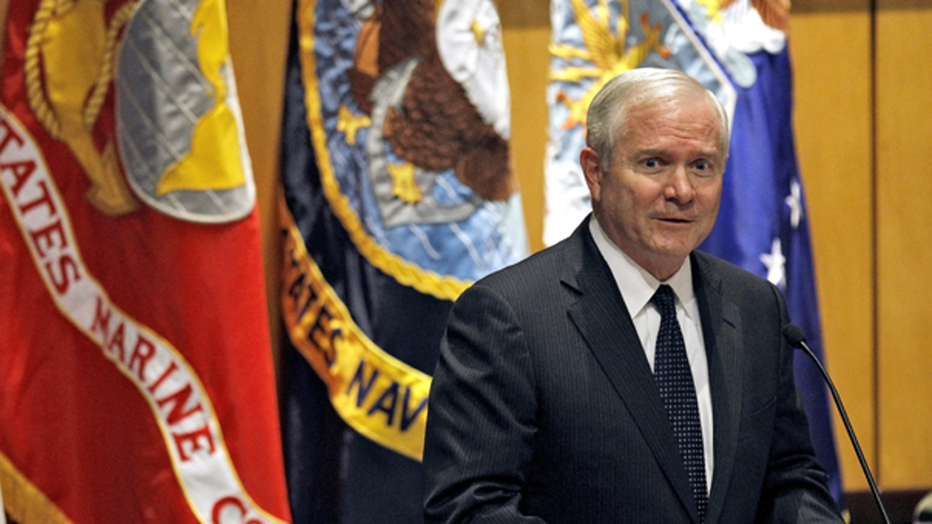 Aug. 11: Secretary of Defense Robert Gates addresses members of the United States Central Command during Assumption of Command ceremonies at MacDill Air Force Base in Tampa, Fla.