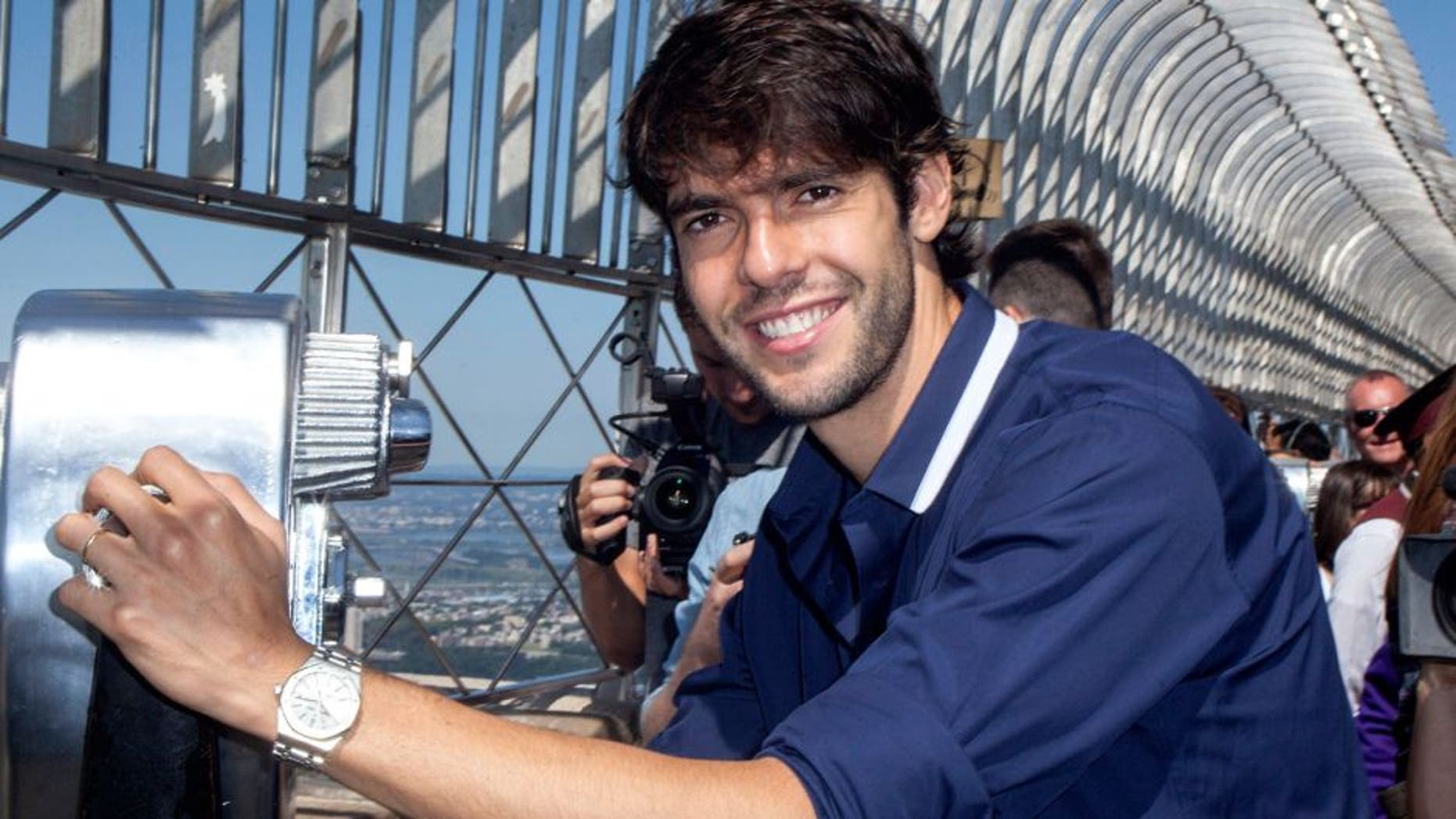 NEW YORK, NY - JULY 24: Kaka vists the observatory deck at The Empire State Building on July 24, 2015 in New York City. (Photo by Santiago Felipe/WireImage)