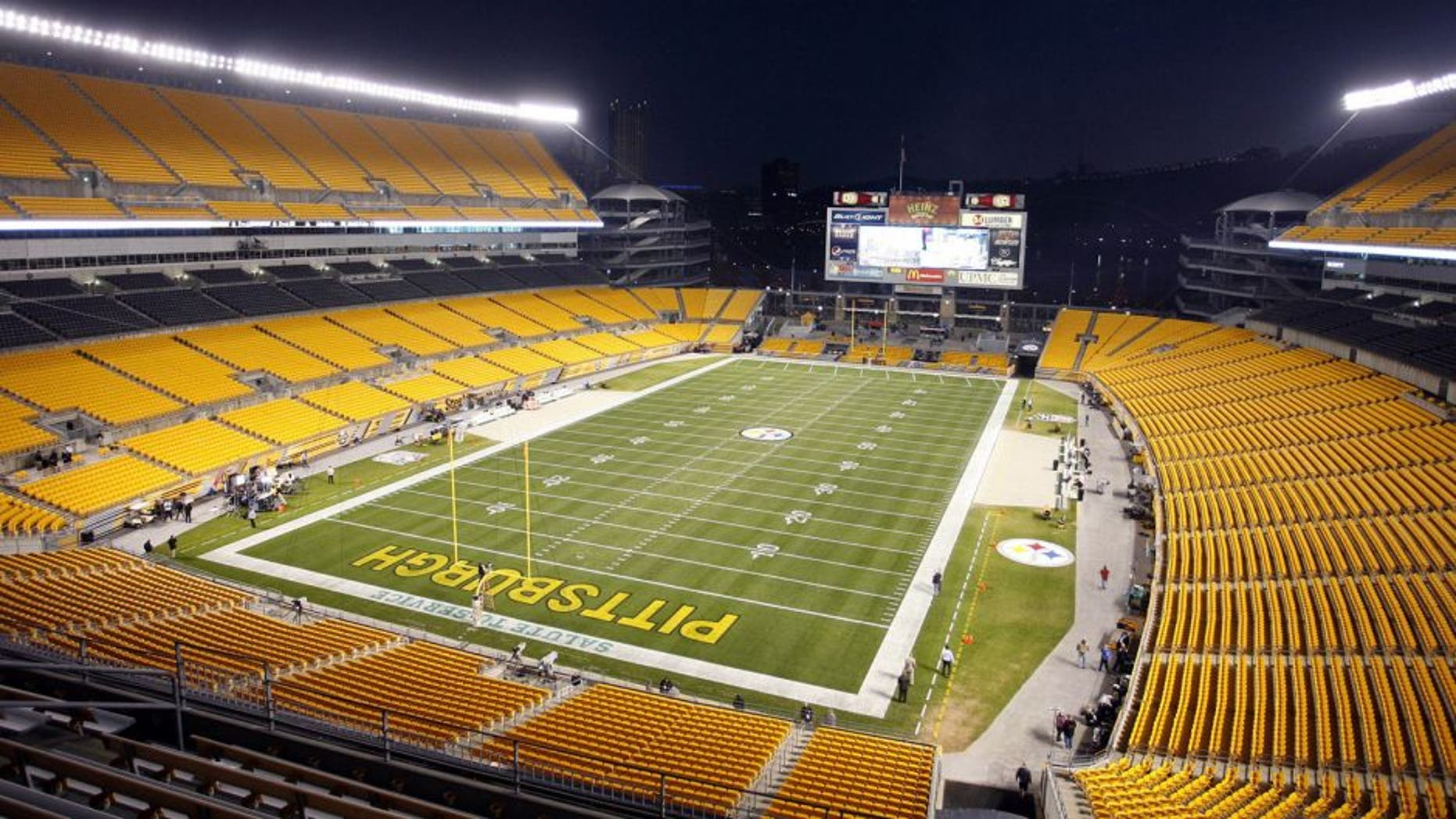 November 18, 2012; Pittsburgh, PA, USA; General exterior view of Heinz Field before the Pittsburgh Steelers and Baltimore Ravens play at Heinz Field. Mandatory Credit: Charles LeClaire-USA TODAY Sports