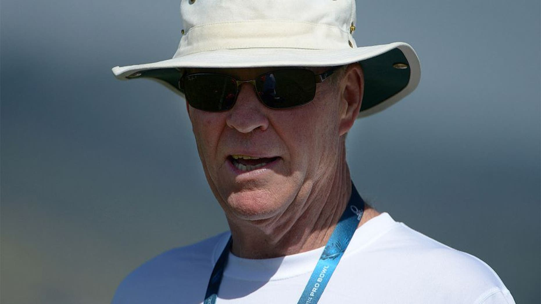 January 24, 2014; Kapolei, HI, USA; Carolina Panthers assistant special teams coach Bruce DeHaven during the 2014 Pro Bowl practice at Kapolei High School. Mandatory Credit: Kirby Lee-USA TODAY Sports