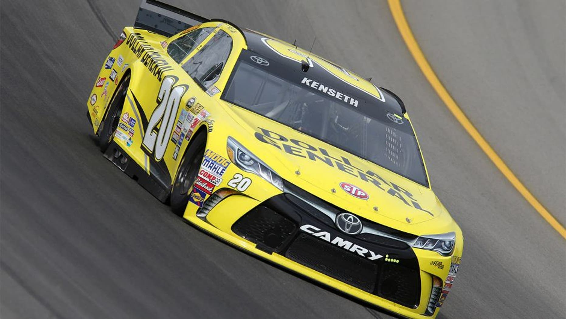BROOKLYN, MI - AUGUST 14: Matt Kenseth drives the #20 Dollar General Toyota during practice for the NASCAR Sprint Cup Series Pure Michigan 400 at Michigan International Speedway on August 14, 2015 in Brooklyn, Michigan. (Photo by Jerry Markland/Getty Images)
