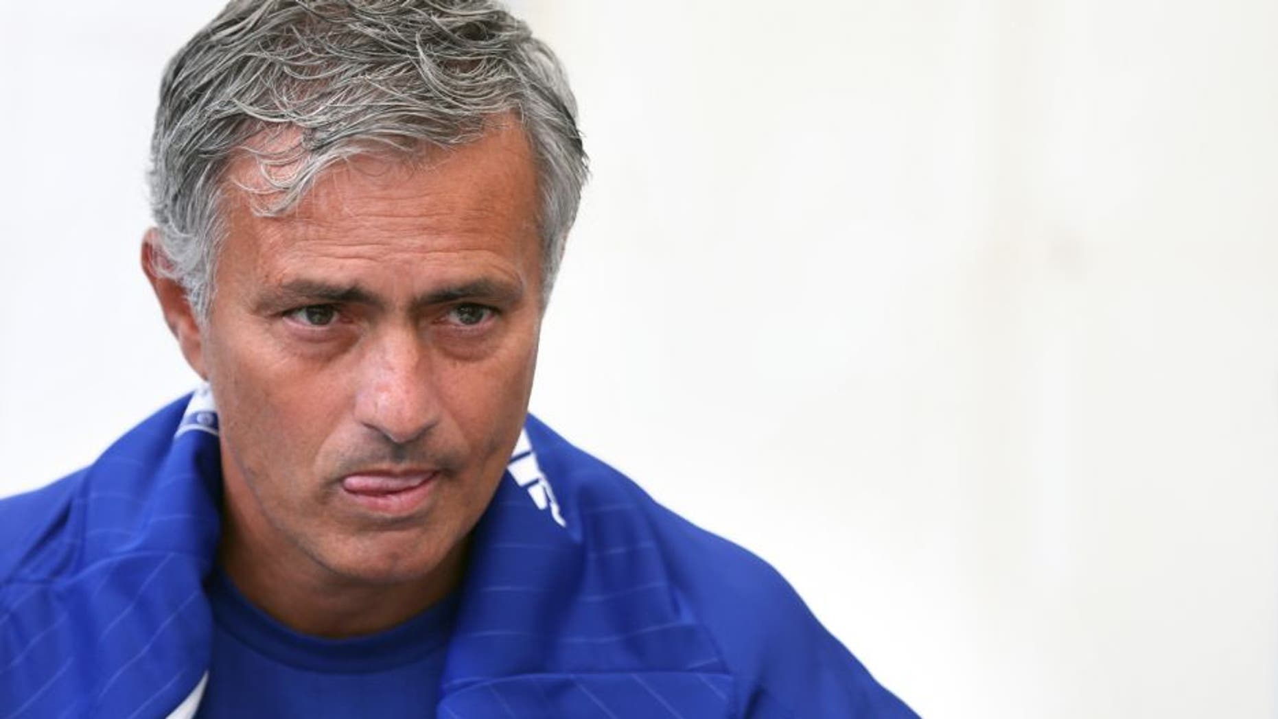 LONDON, ENGLAND - AUGUST 05: Chelsea FC manager Jose Mourinho talks to members of the media during the official Premier League season launch media event at Southfields Academy on August 5, 2015 in London, England. (Photo by Steve Bardens/Getty Images)