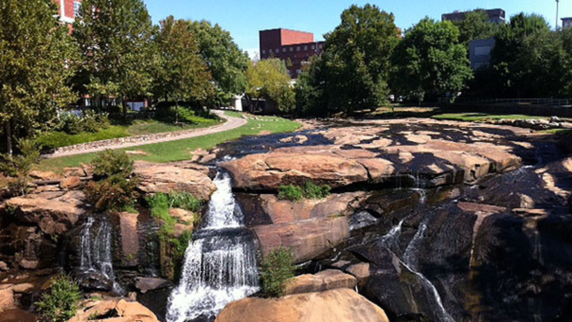 Falls Park in Greenville, S.C.