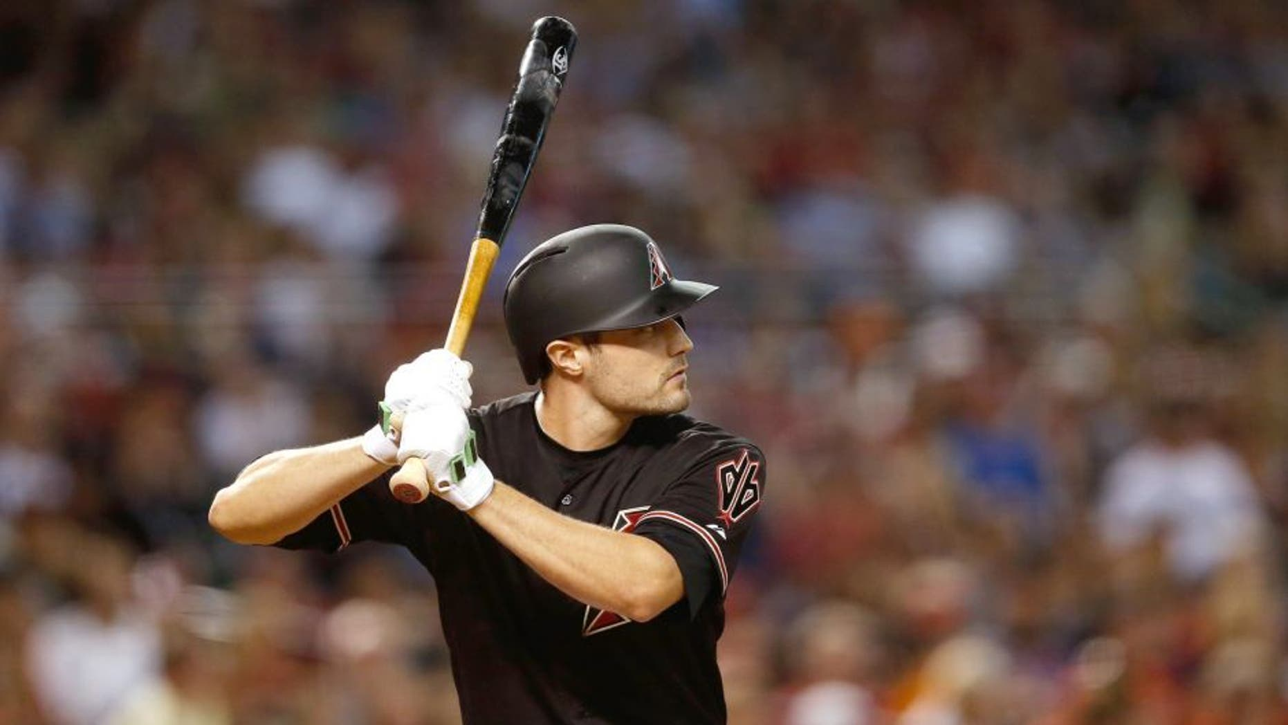 PHOENIX, AZ - JULY 18: A.J. Pollock #11 of the Arizona Diamondbacks bats against the San Francisco Giants during the MLB game at Chase Field on July 18, 2015 in Phoenix, Arizona. The Giants defeated the Diamondbacks 8-4. (Photo by Christian Petersen/Getty Images)