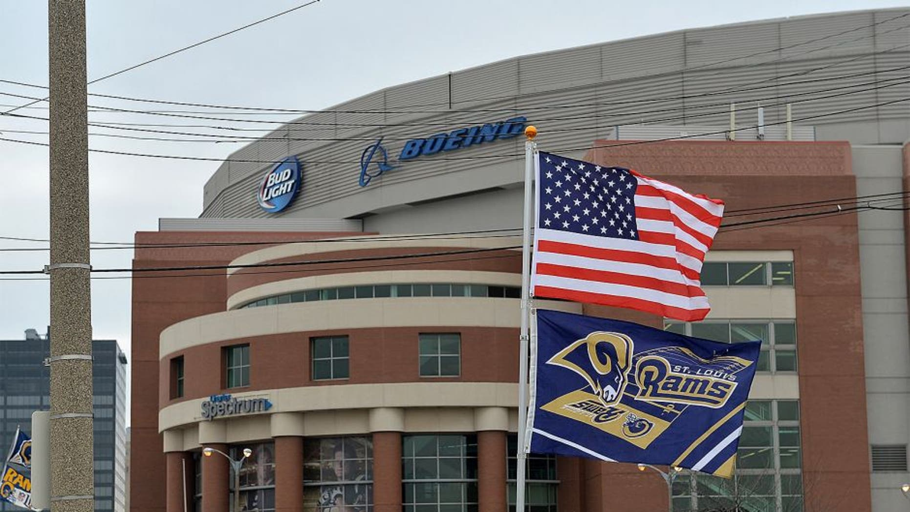 ST. LOUIS, MO - DECEMBER 21: An exterior view of the Edward Jones Dome prior to a game between the St. Louis Rams and the New York Giants at the Edward Jones Dome on December 21, 2014 in St. Louis, Missouri. (Photo by Michael Thomas/Getty Images)