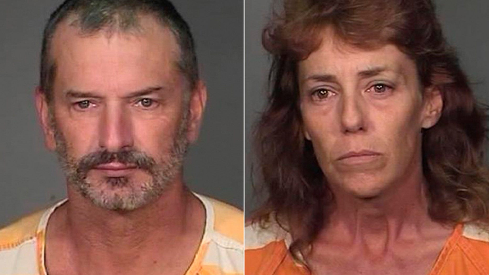 Aug. 19: These images provided by the Mohave County Sheriff's Office shows the booking photos of John McCluskey and Cassyln Welch after they were captured by authorities in Arizona, ending a national manhunt.