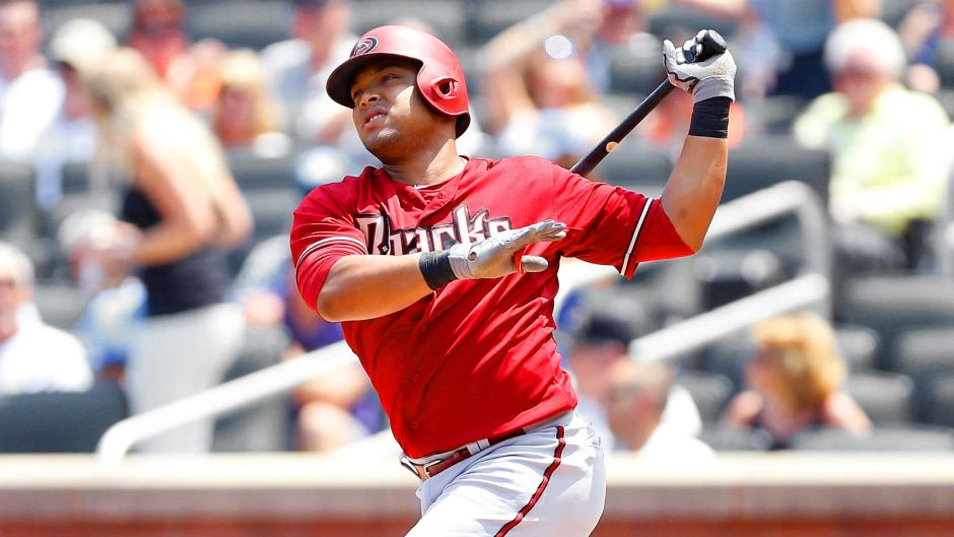 NEW YORK, NY - JULY 12: Yasmany Tomas #24 of the Arizona Diamondbacks in action against the New York Mets at Citi Field on July 12, 2015 in the Flushing neighborhood of the Queens borough of New York City. The Mets defeated the Diamondbacks 5-3. (Photo by Jim McIsaac/Getty Images)