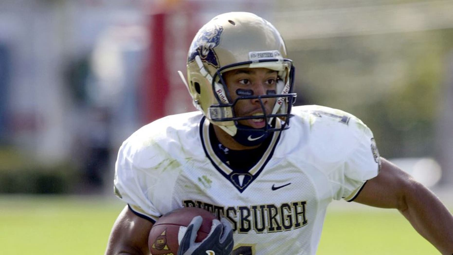 Larry Fitzgerald of the Pittsburgh Panthers (Photo by Sean Brady/WireImage)