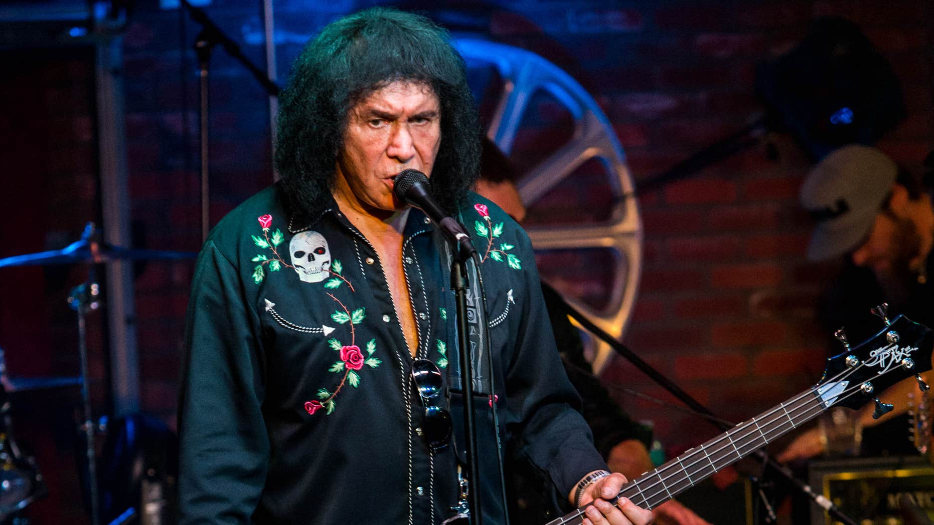 """Aug. 16, 2015: Gene Simmons performs during the """"Music On A Mission"""" benefit concert held at Lucky Strike Live - Hollywood in Los Angeles."""