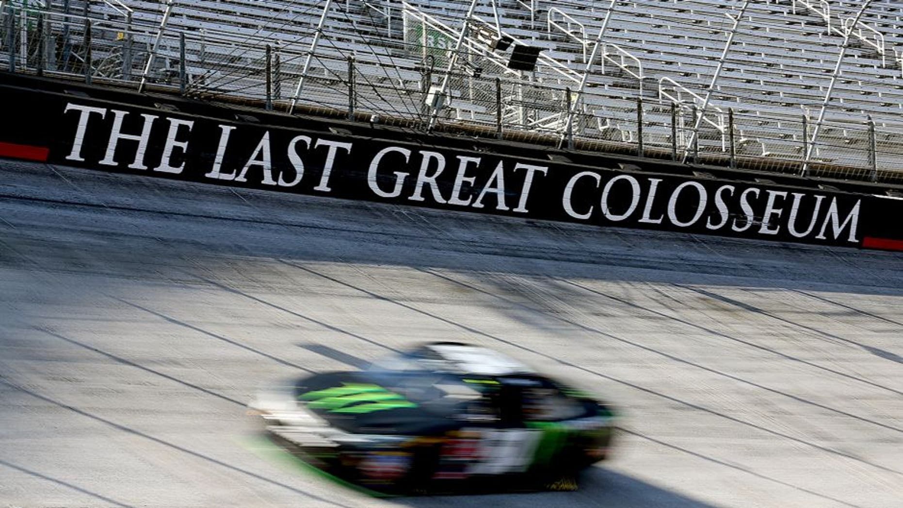 BRISTOL, TN - AUGUST 21: Kyle Busch, driver of the #54 Monster Energy Toyota, practices for the NASCAR XFINITY Series Food City 300 at Bristol Motor Speedway on August 21, 2015 in Bristol, Tennessee. (Photo by Matt Sullivan/NASCAR via Getty Images)