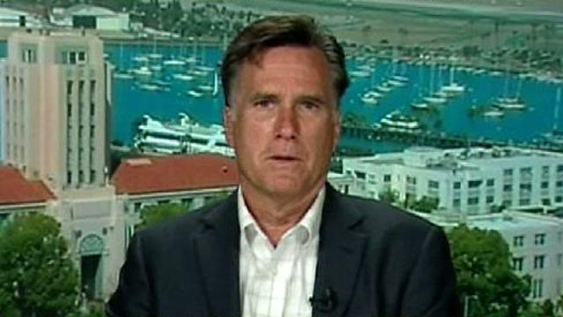 GOP presidential candidate Mitt Romney.
