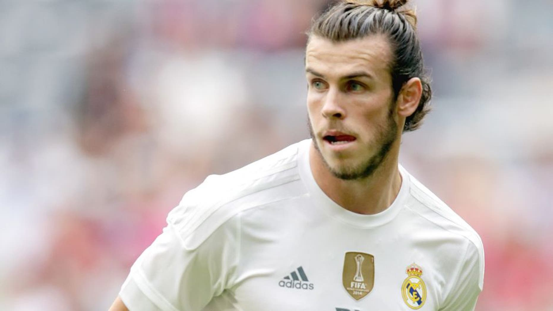 Gareth Bale of Real Madrid during the AUDI Cup match between Real Madrid and Tottenham Hotspur on August 4, 2015 at the Allianz Arena in Munich, Germany(Photo by VI Images via Getty Images)