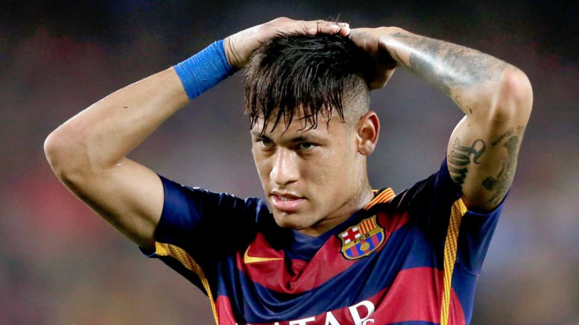 Neymar da Silva Santos Junior of FC Barcelona during the Joan Gamper Trophy match between Barcelona and AS Roma on August 5, 2015 at the Camp Nou stadium in Barcelona, Spain.(Photo by VI Images via Getty Images)