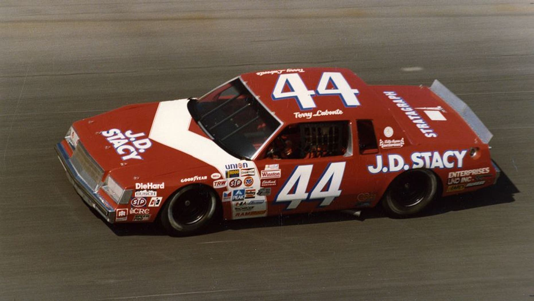 1982: Terry Labonte wheeled the Billy Hagan Buick with sponsorship from J.D. Stacy. (Photo by ISC Archives via Getty Images)