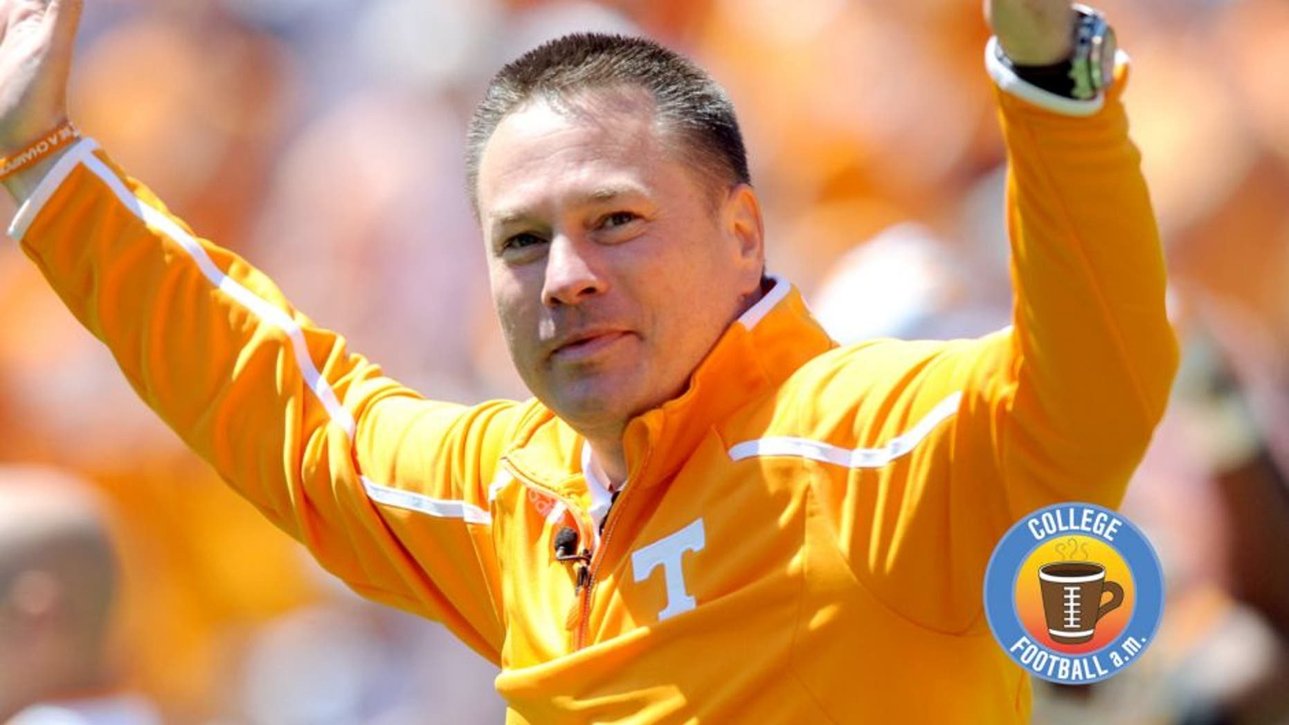 Apr 20, 2013; Knoxville, TN, USA; Tennessee Volunteers head coach Butch Jones during the first half of the spring Orange and White game at Neyland Stadium. Mandatory Credit: Randy Sartin-USA TODAY Sports