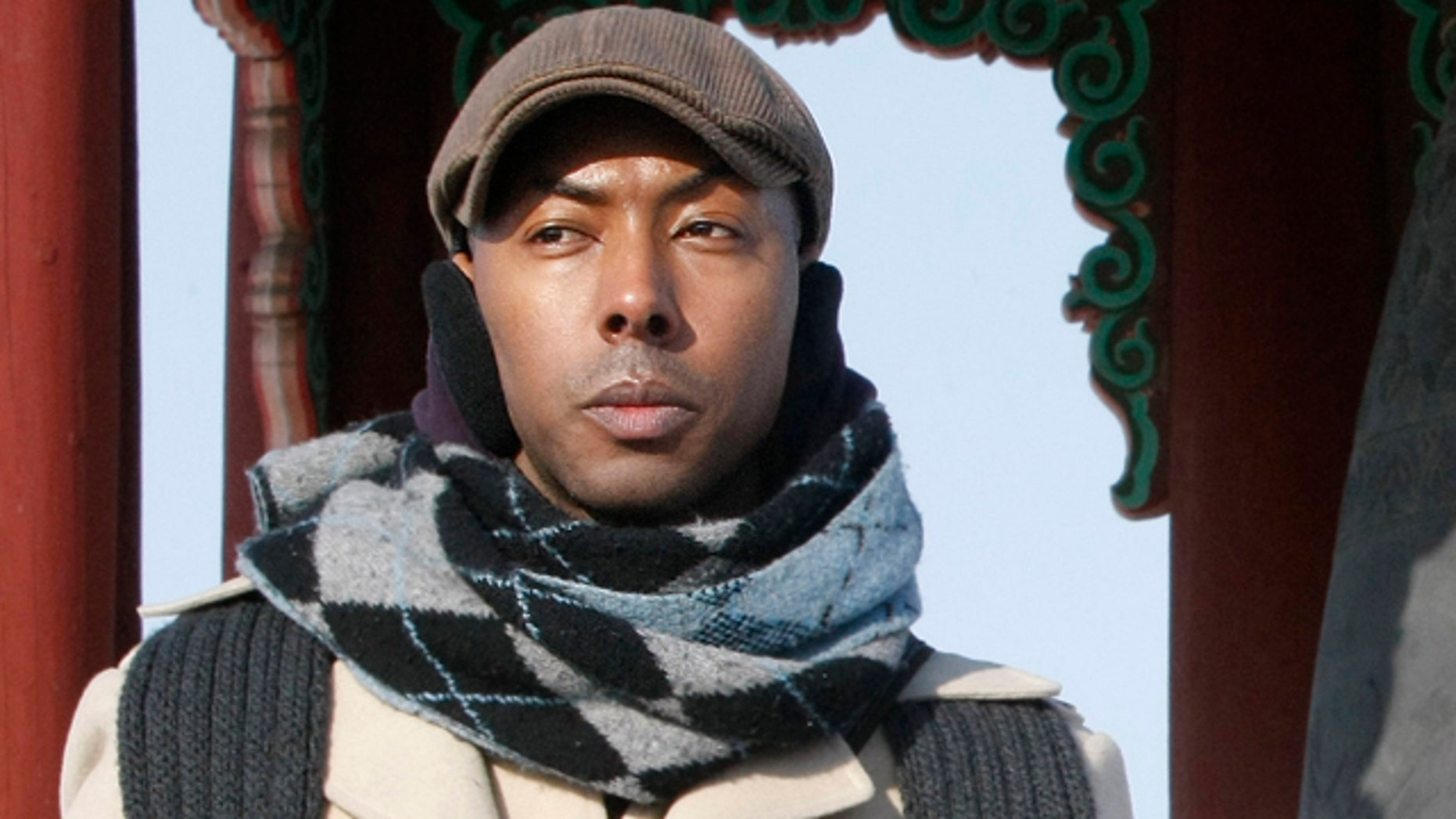 A Jan. 12, 2010, file photo shows American Aijalon Mahli Gomes, during a rally denouncing North Korean's human rights conditions at the Imjingak Pavilion, near the demilitarized zone (DMZ) of Panmunjom that separates the two Koreas.