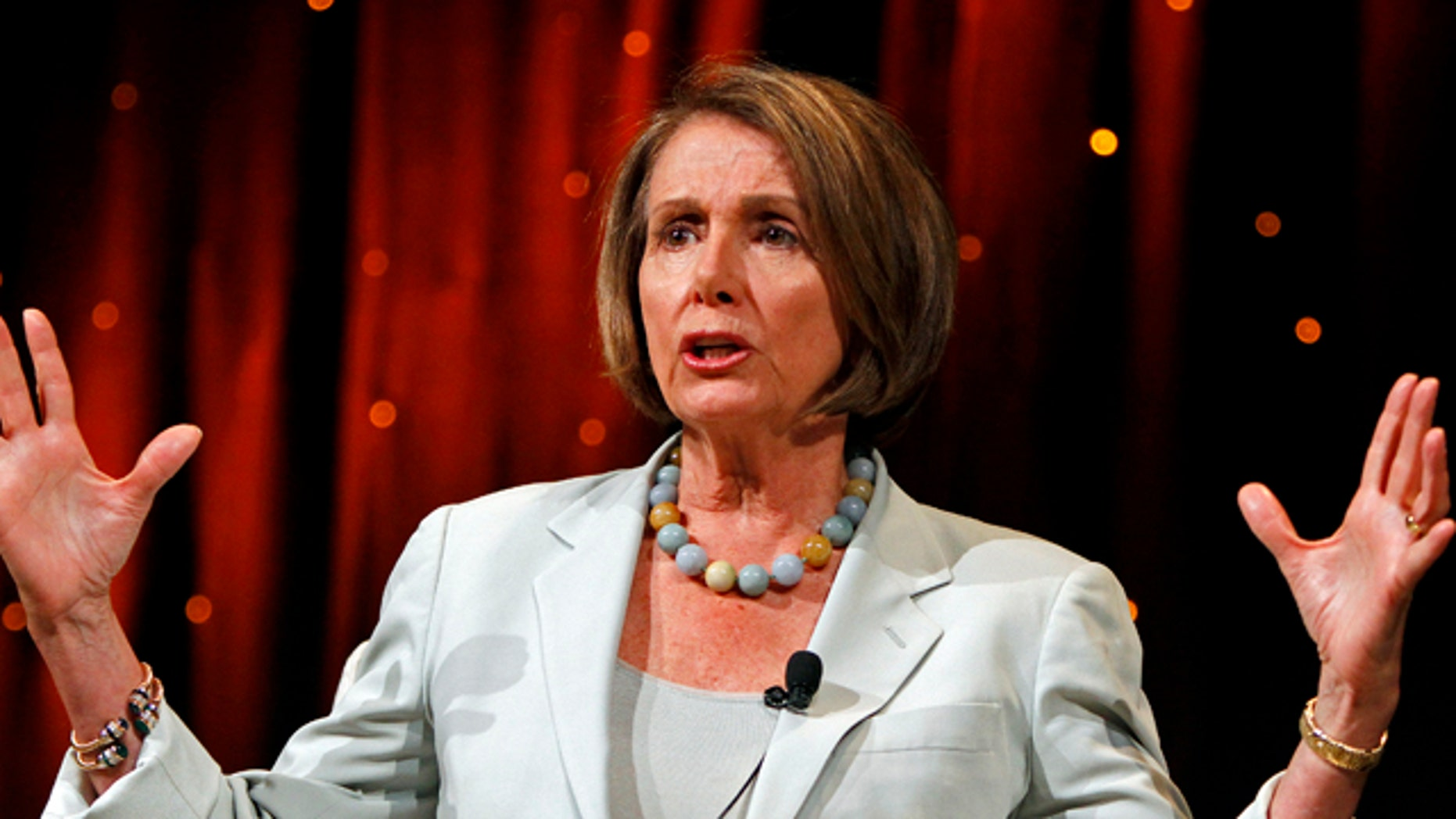 June 24: House Speaker Nancy Pelosi, D-Calif., answers questions during the Netroots Nation convention in Las Vegas.