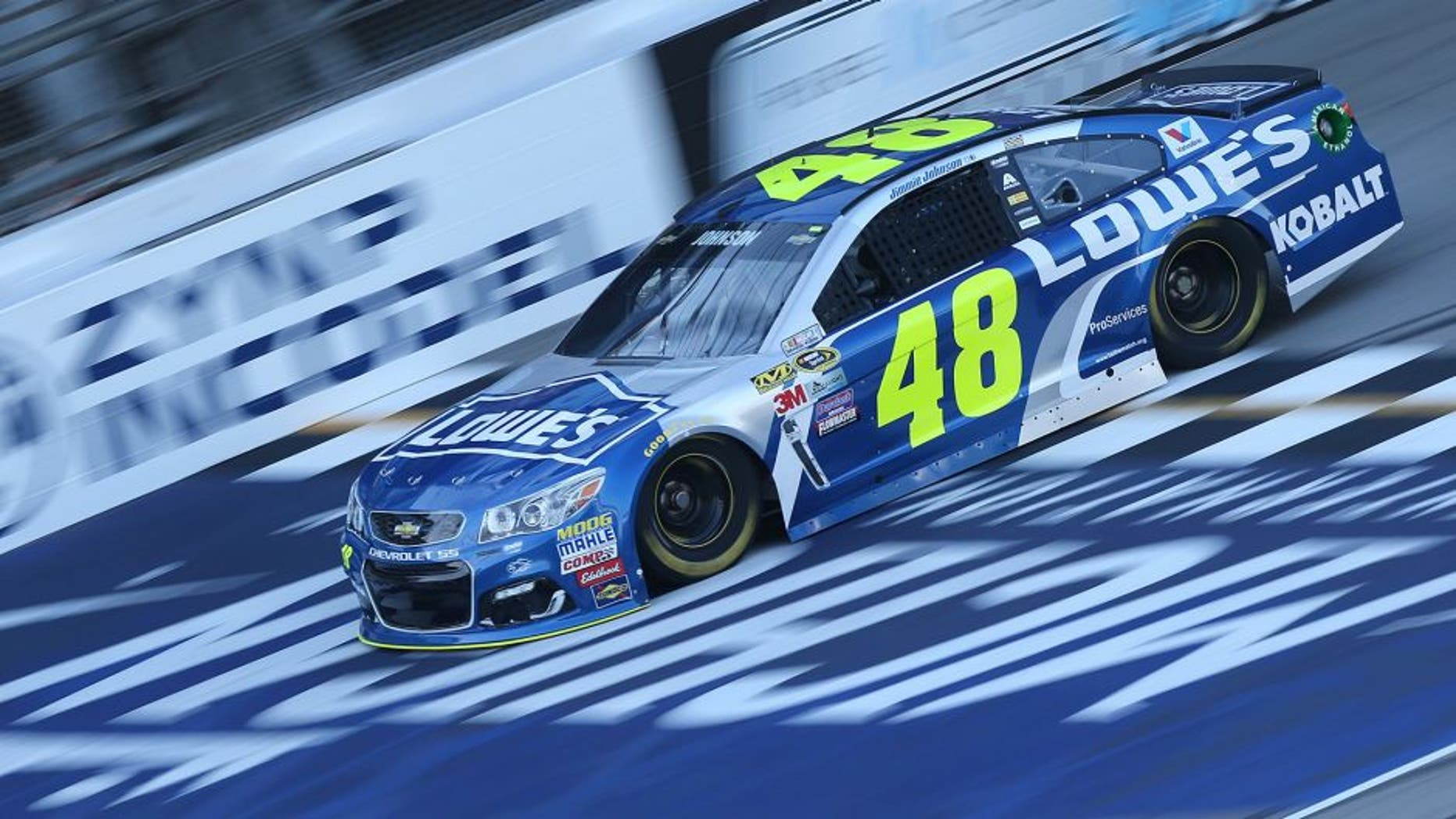BROOKLYN, MI - AUGUST 26: Jimmie Johnson, driver of the #48 Lowe's Chevrolet, drives during qualifying for the NASCAR Sprint Cup Series Pure Michigan 400 at Michigan International Speedway on August 26, 2016 in Brooklyn, Michigan. (Photo by Jerry Markland/Getty Images)