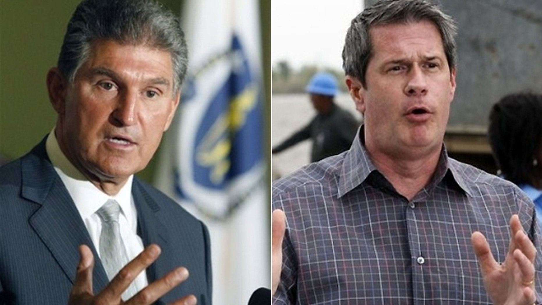 West Virginia Democratic Gov. Joe Manchin, left, easily won his party's nomination and will face GOP primary winner John Raese in the race for the U.S. Senate seat held by the late Robert C. Byrd, while Republican Sen. David Vitter, right, will face Democratic primary winner Rep. Charlie Melancon in a U.S. Senate race in Louisiana. (AP photo)