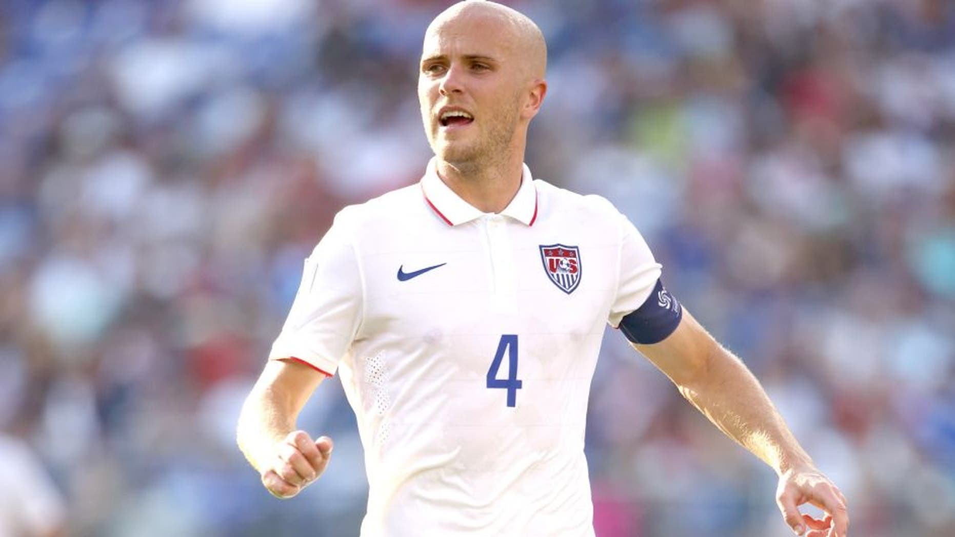 BALTIMORE, MD - JULY 18: Michael Bradley of United States of America during the Gold Cup Quarter Final between USA and Cuba at M&T Bank Stadium on July 18, 2015 in Baltimore, Maryland. (Photo by Matthew Ashton - AMA/Getty Images)