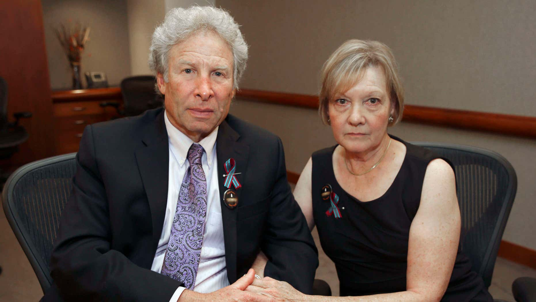 Aug. 28, 2015: Andy and Barbara Parker, of Collinsville, Va. mourn the loss of their daughter, Alison Parker, a journalist for WDBJ.