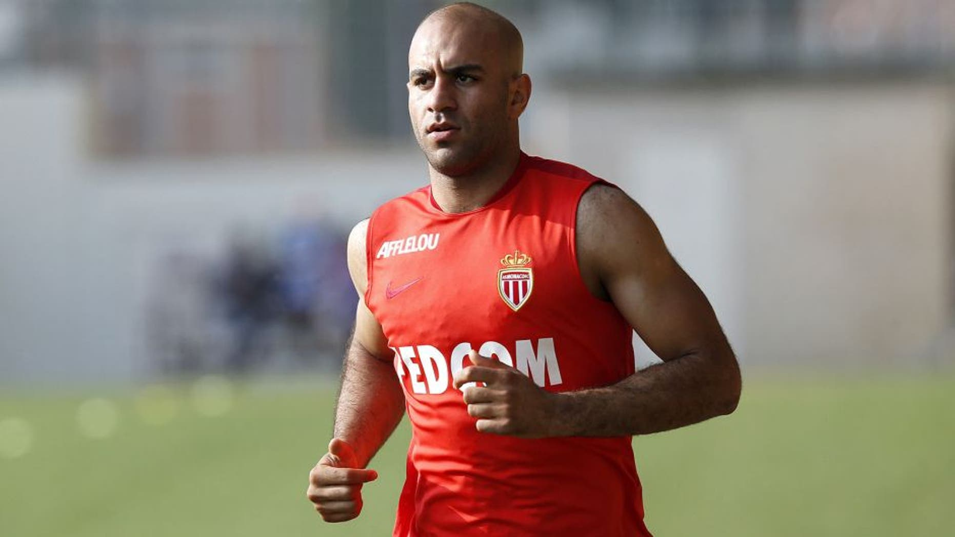 Monaco's Tunisian defender Aymen Abdennour runs during the first training session of 2015-2016 season on June 29, 2015 in La Turbie, southeastern France. AFP PHOTO / VALERY HACHE (Photo credit should read VALERY HACHE/AFP/Getty Images)