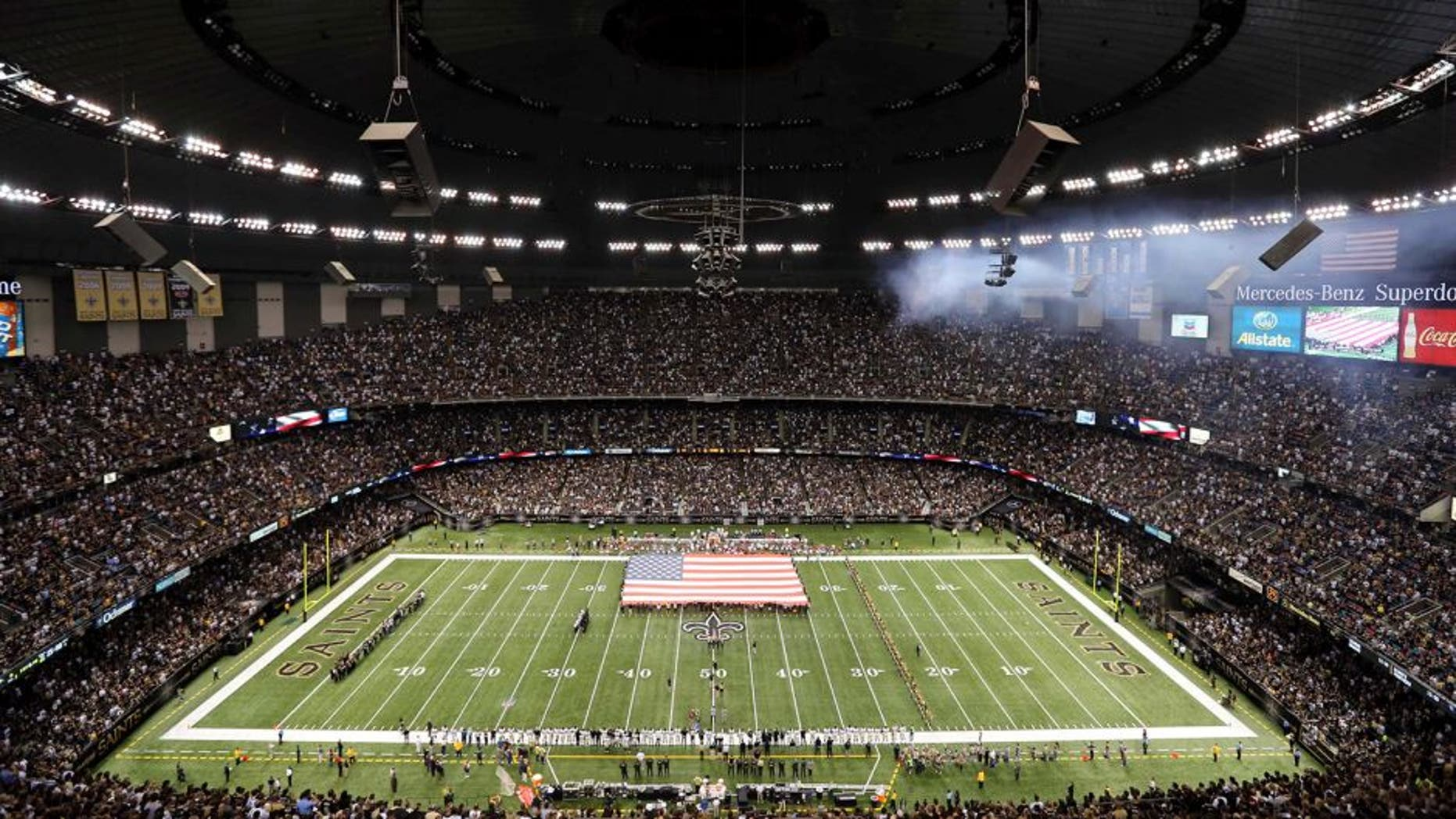 Sep 22, 2013; New Orleans, LA, USA; General view of the Mercedes-Benz Superdome before the New Orleans Saints play the Arizona Cardinals. Mandatory Credit: Chuck Cook-USA TODAY Sports