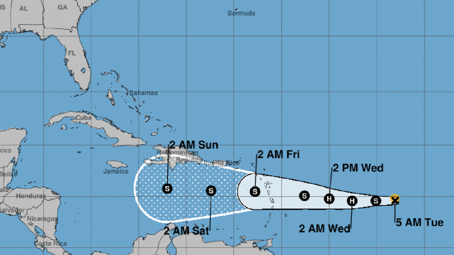Tropical Storm Isaac is expected to be at hurricane strength when it reaches the Lesser Antilles on Thursday.