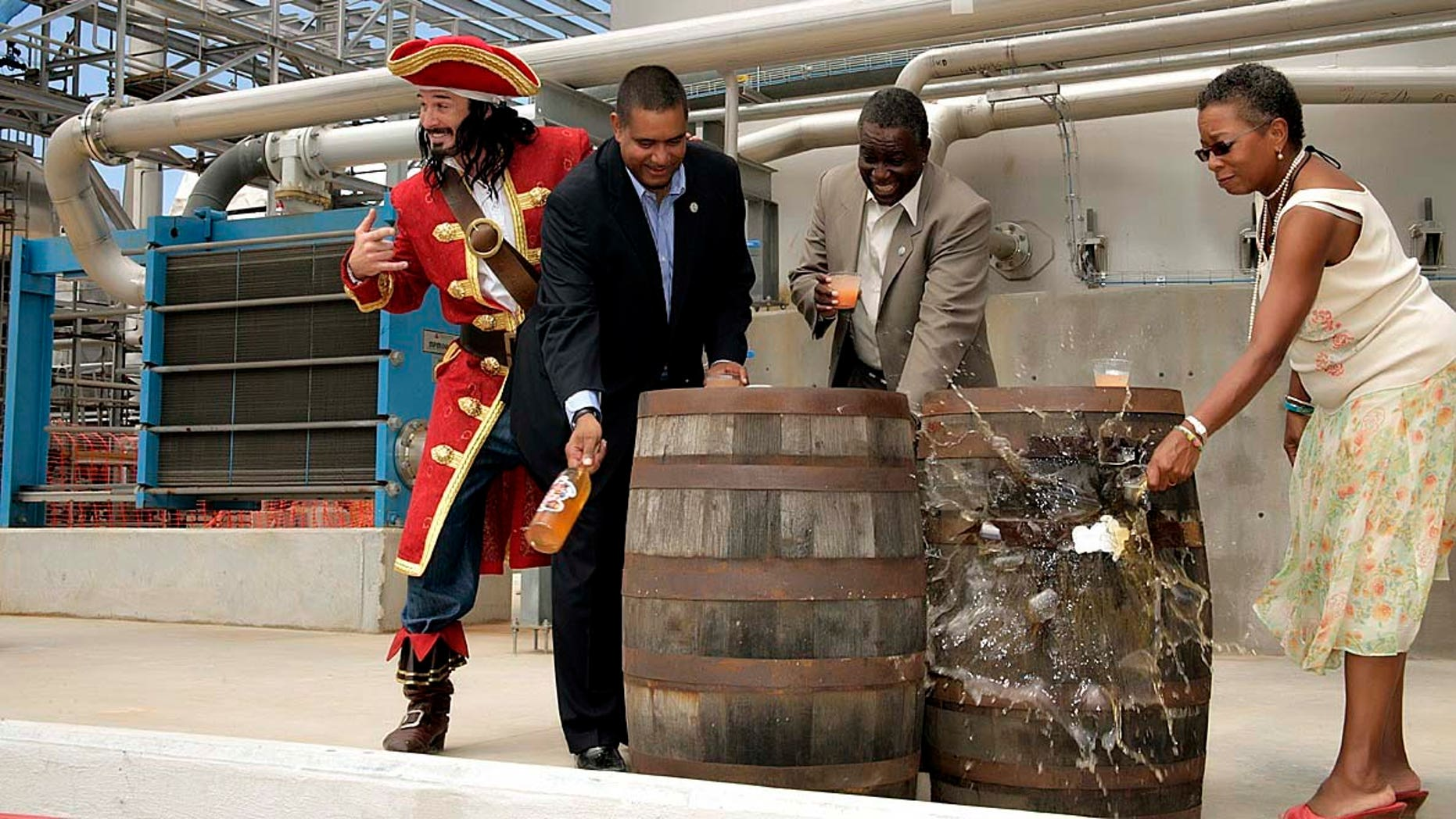 Photo by Ted Davis, The new Captain Morgan Rum Distillery in St. Croix is commissioned.