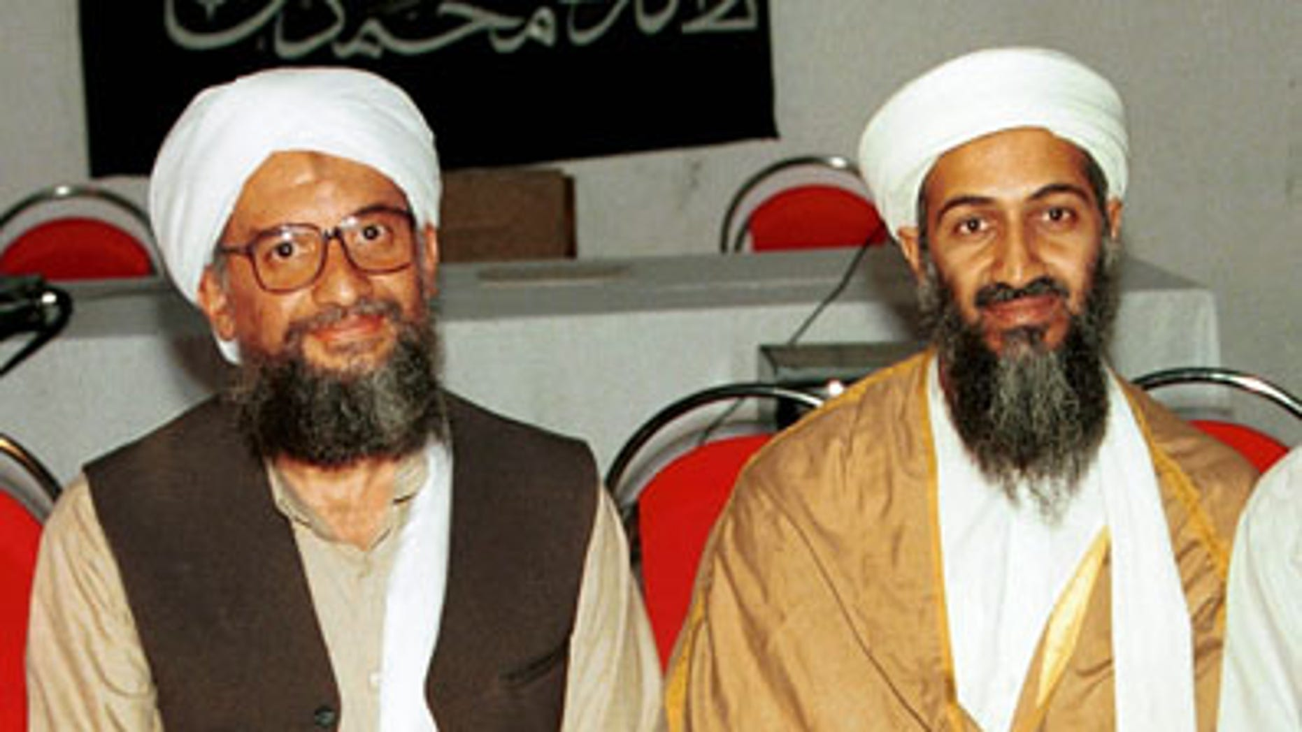 In this 1998 file photo made available Friday, March 19, 2004, Ayman al-Zawahri, left, poses for a photograph with Osama bin Laden, right, in Khost, Afghanistan. Al-Qaida has selected its longtime No. 2, Ayman al-Zawahri, to succeed Osama bin Laden following last month's U.S. commando raid that killed the terror leader, according to a statement posted Thursday, June 16, 2011 on a website affiliated with the network.