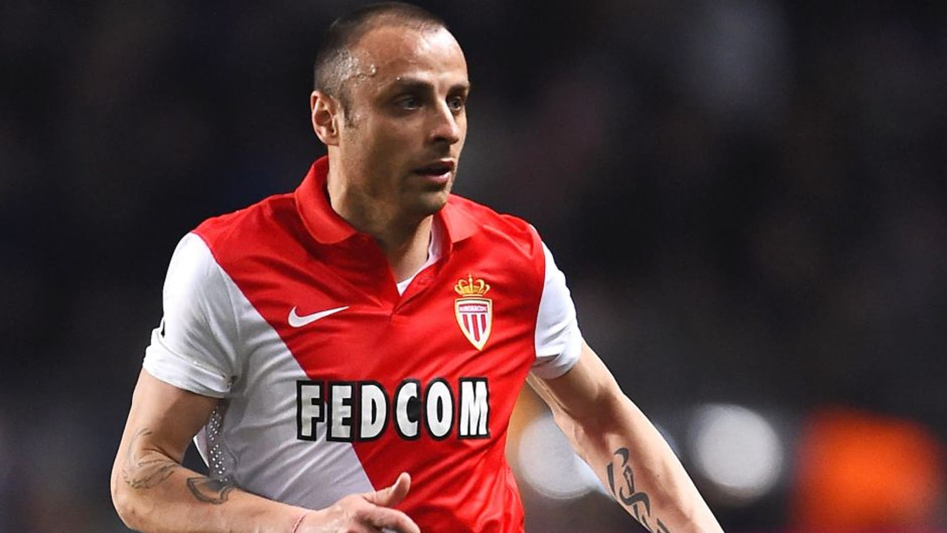 MONACO - APRIL 22: Dimatar Berbatov of Monaco in action during the UEFA Champions League Quarter Final Second Leg match between AS Monaco FC and Juventus at Stade Louis II on April 22, 2015 in Monaco, Monaco. (Photo by Laurence Griffiths/Getty Images)