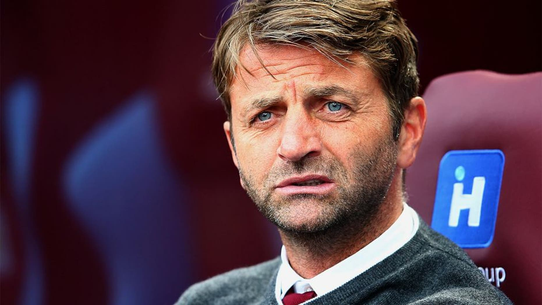 BIRMINGHAM, ENGLAND - AUGUST 29: Tim Sherwood Manager of Aston Villa looks on during the Barclays Premier League match between Aston Villa and Sunderland at Villa Park on August 29, 2015 in Birmingham, England. (Photo by Mark Thompson/Getty Images)
