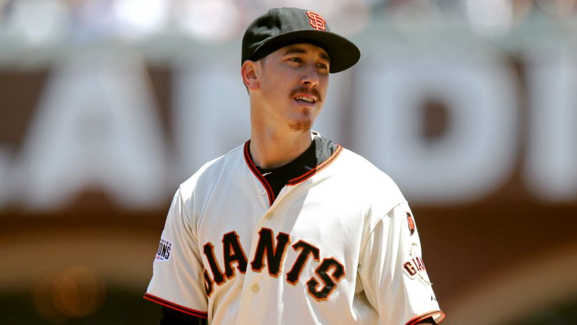 SAN FRANCISCO, CA - JUNE 16: Tim Lincecum #55 of the San Francisco Giants pitches against the Seattle Mariners during the game at AT&T Park on Tuesday, June 16, 2015 in San Francisco, California. (Photo by Brad Mangin/MLB Photos via Getty Images)