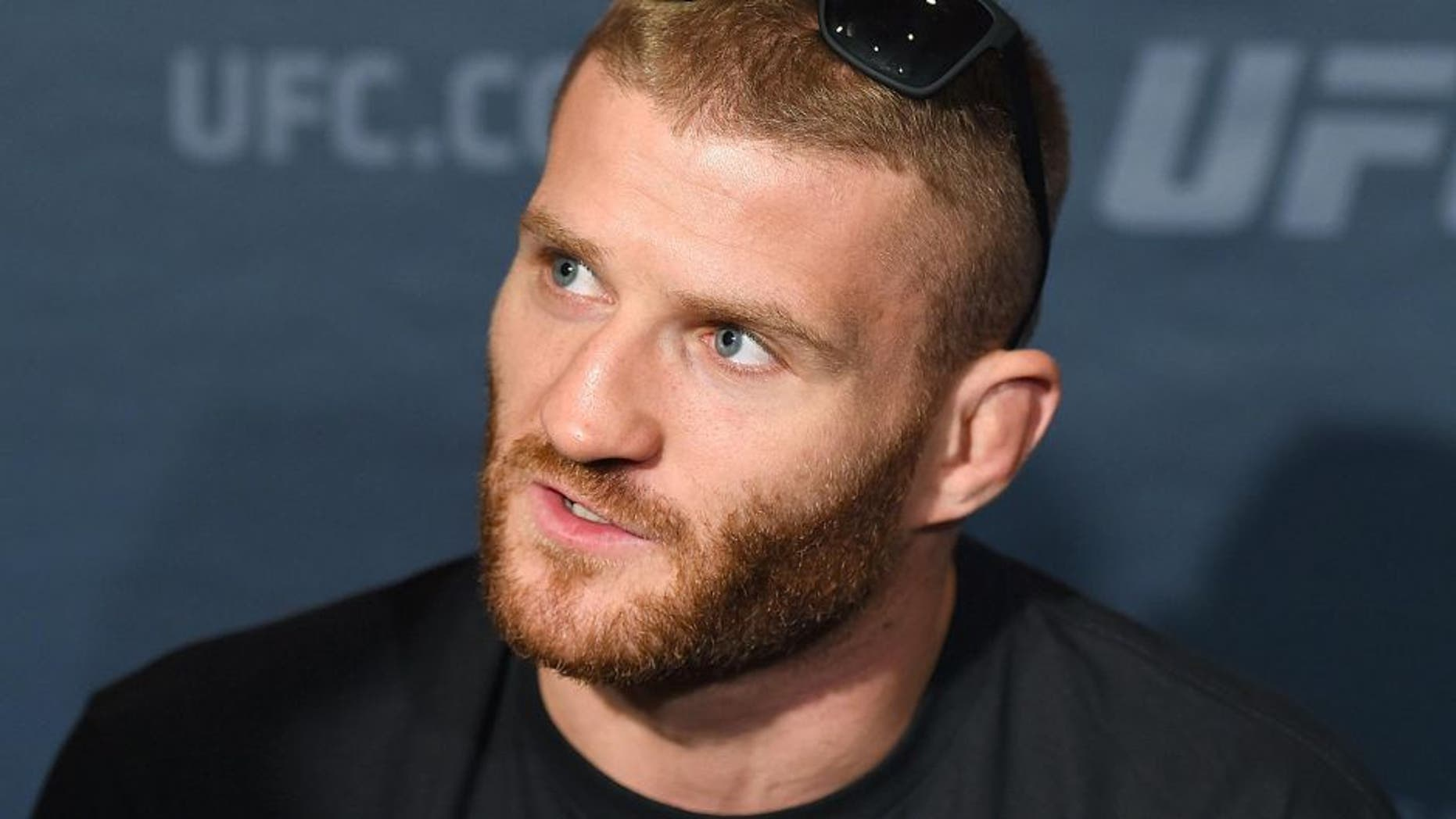 LAS VEGAS, NV - SEPTEMBER 03: Jan Blachowicz of Poland interacts with media during the UFC 191 Ultimate Media Day at MGM Grand Hotel & Casino on September 3, 2015 in Las Vegas, Nevada. (Photo by Josh Hedges/Zuffa LLC/Zuffa LLC via Getty Images)