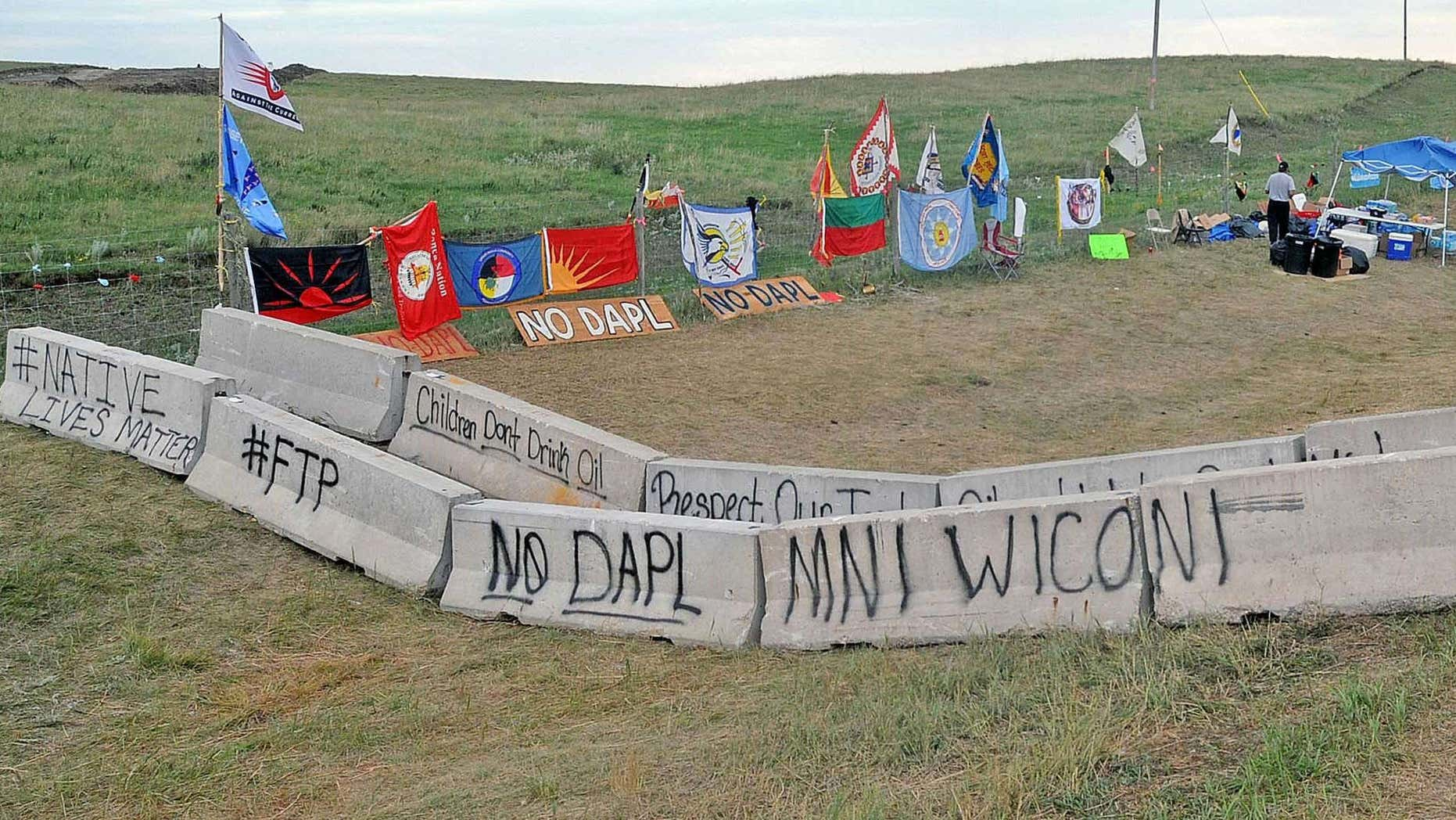 Aug. 18, 2016: The protest site along North Dakota Highway 1806 was quiet and nearly empty of people.