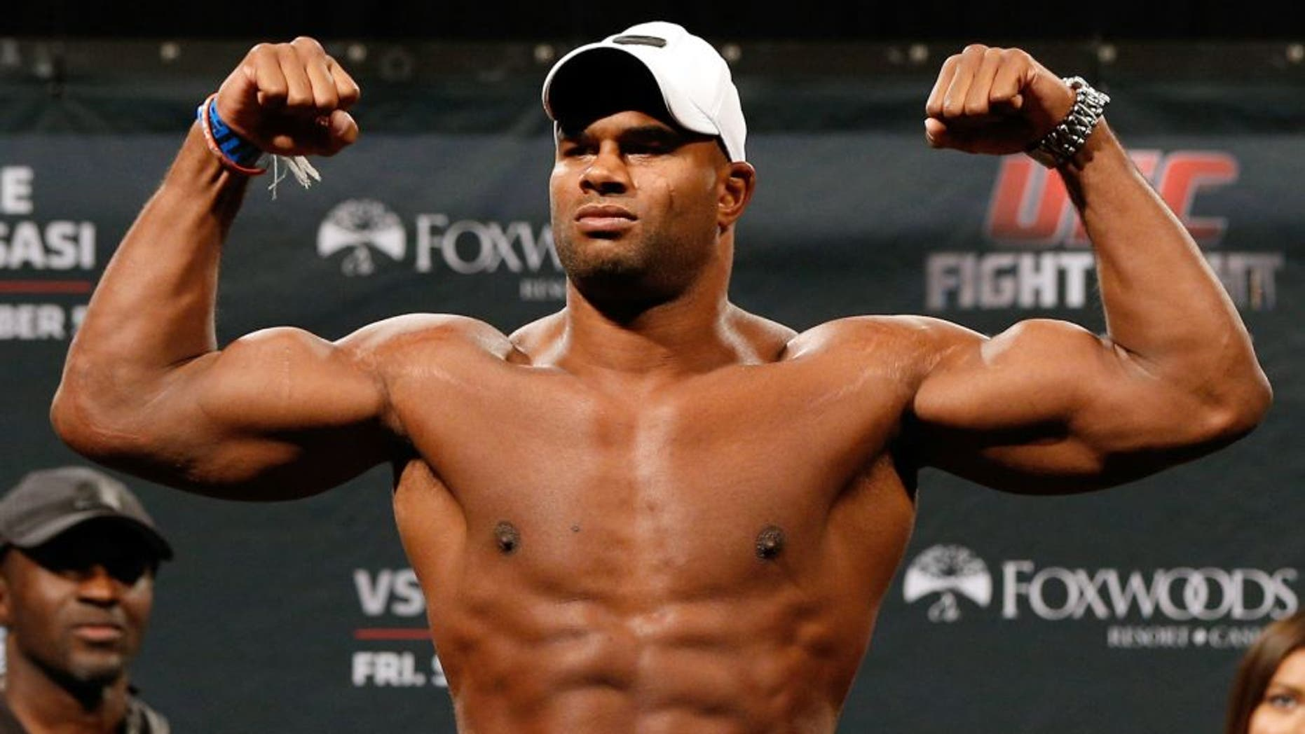 MASHANTUCKET, CT - SEPTEMBER 04: Alistair Overeem of The Netherlands weighs in during the UFC Fight Night weigh-in at Foxwoods Resort Casino on September 4, 2014 in Mashantucket, Connecticut. (Photo by Josh Hedges/Zuffa LLC/Zuffa LLC via Getty Images)